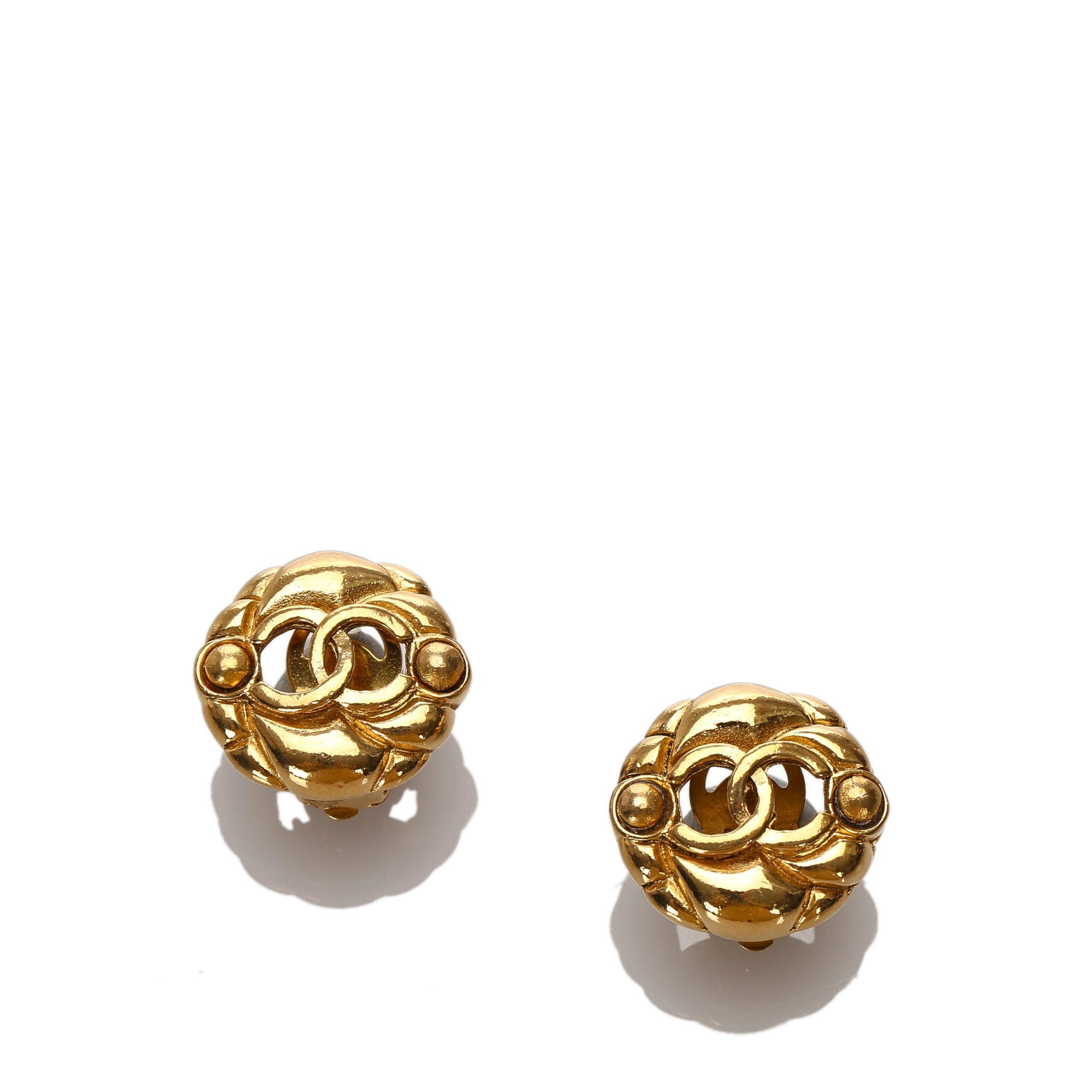 Chanel Gold CC Clip-On Earrings