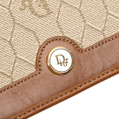 Dior Brown Honeycomb Canvas Long Wallet