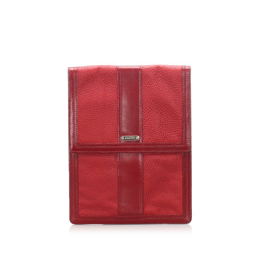 Burberry Red Leather Clutch Bag