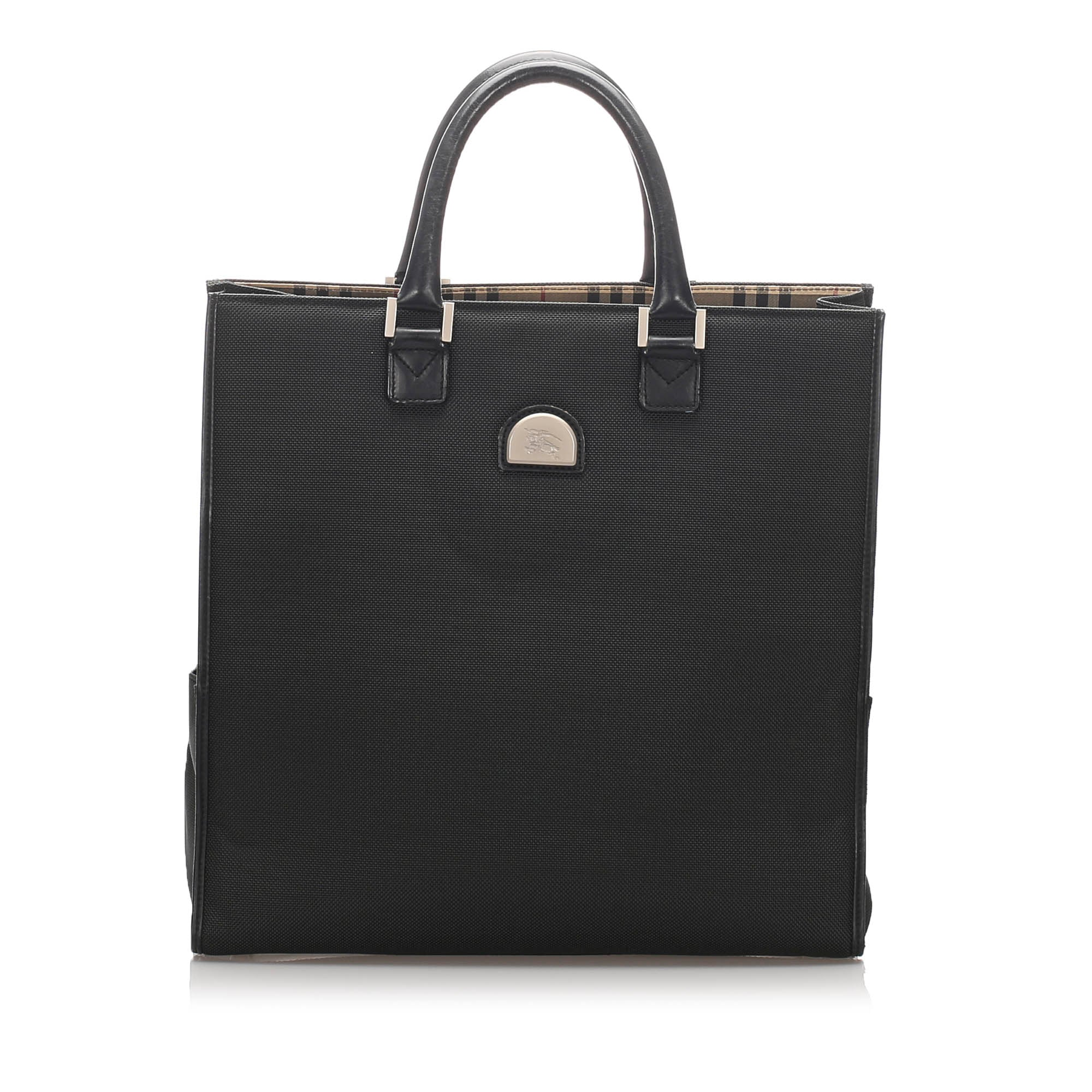 Burberry Black Canvas Tote Bag