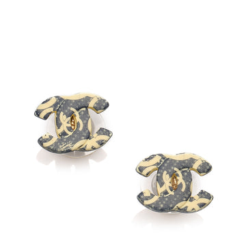 Chanel Black CC Clip-on Earrings