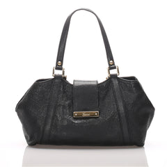 Gucci Black Guccissima New Ladies Tote Bag