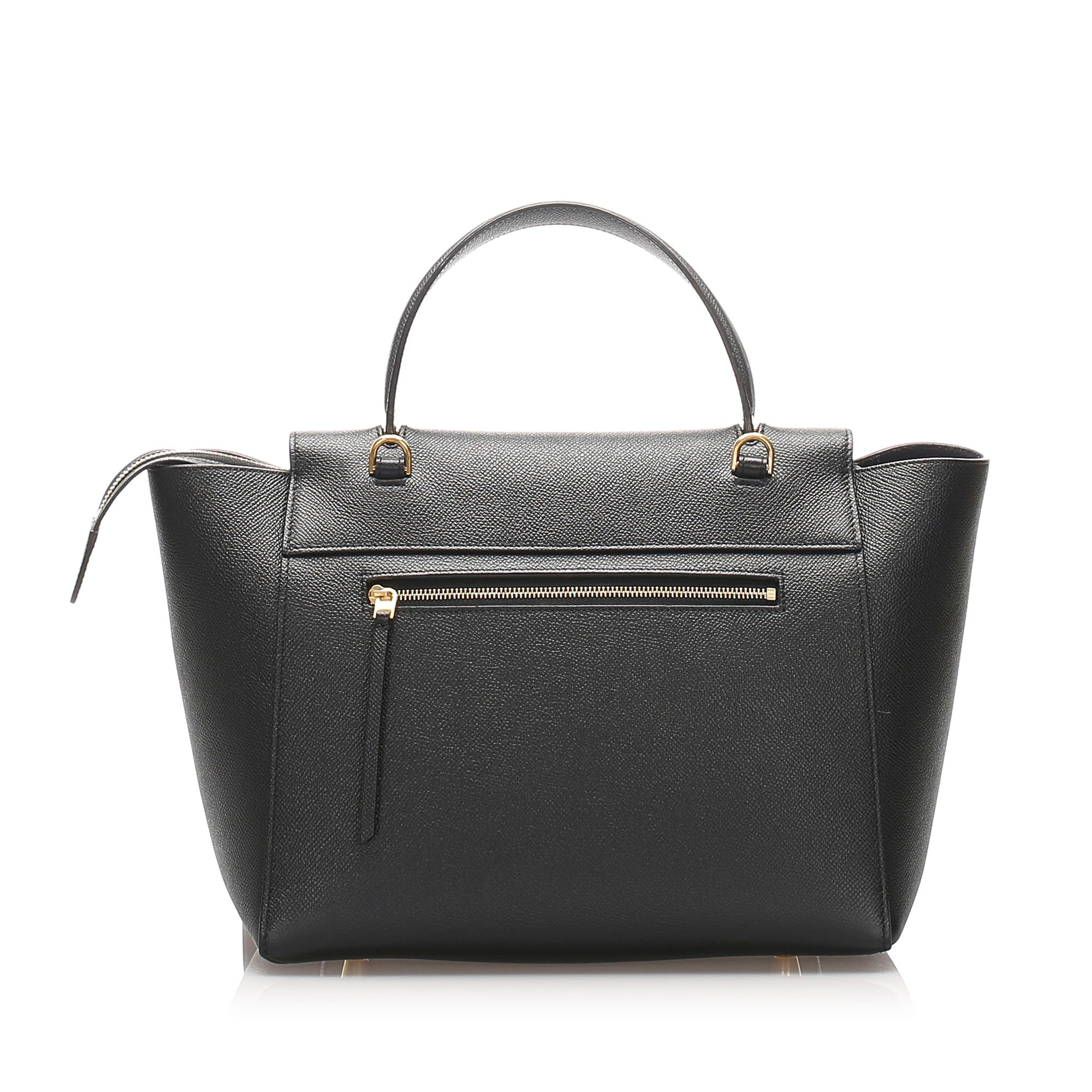 Celine Black Mini Belt Leather Satchel