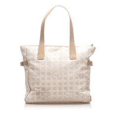Chanel White New Travel Line Tote Bag