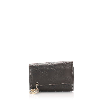 Gucci Black Guccissima Key Holder