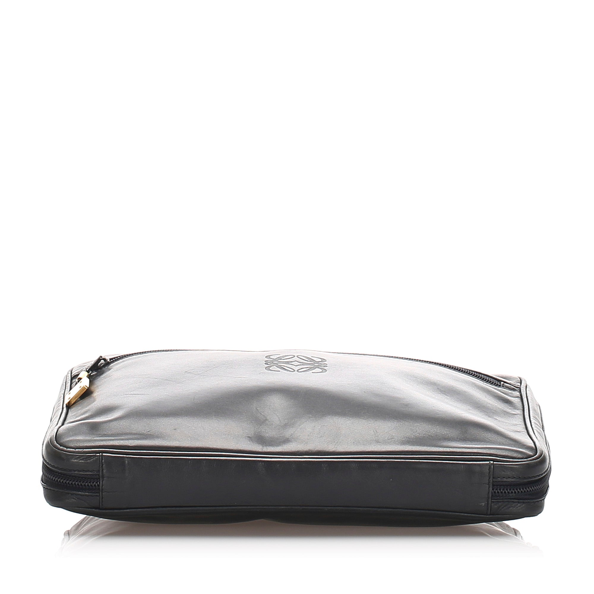 Loewe Black Leather Clutch Bag
