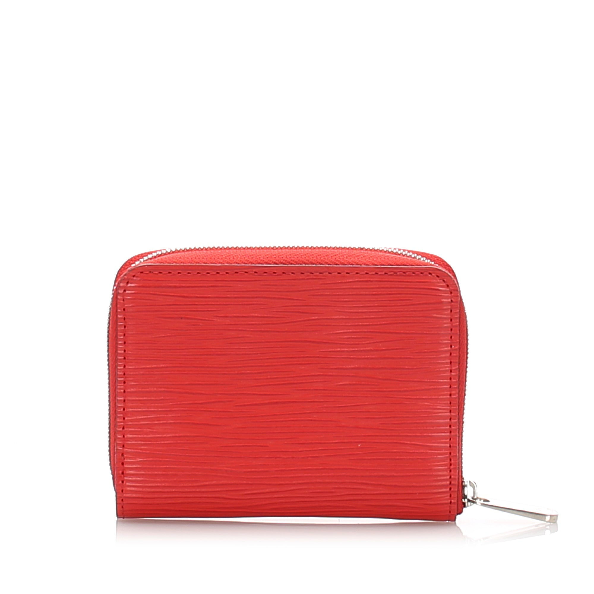 Louis Vuitton Red Epi Zippy Coin Purse