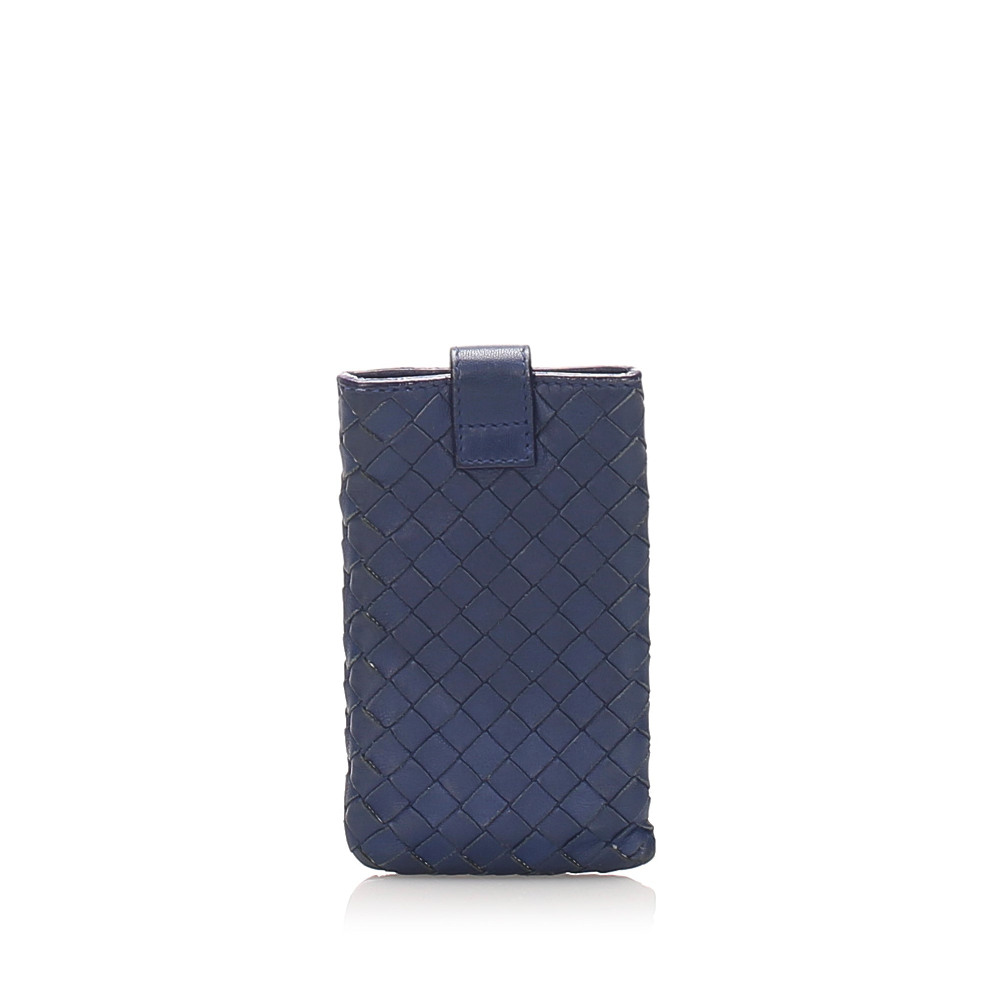 Bottega Veneta Blue Intrecciato Phone Case