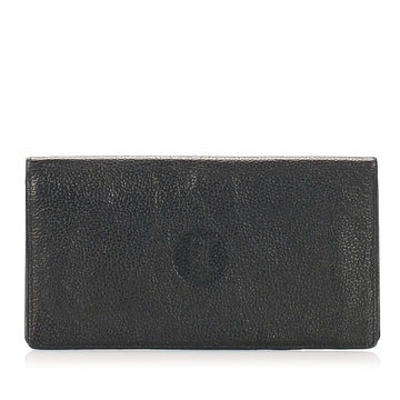 Celine Black Leather Long Wallet