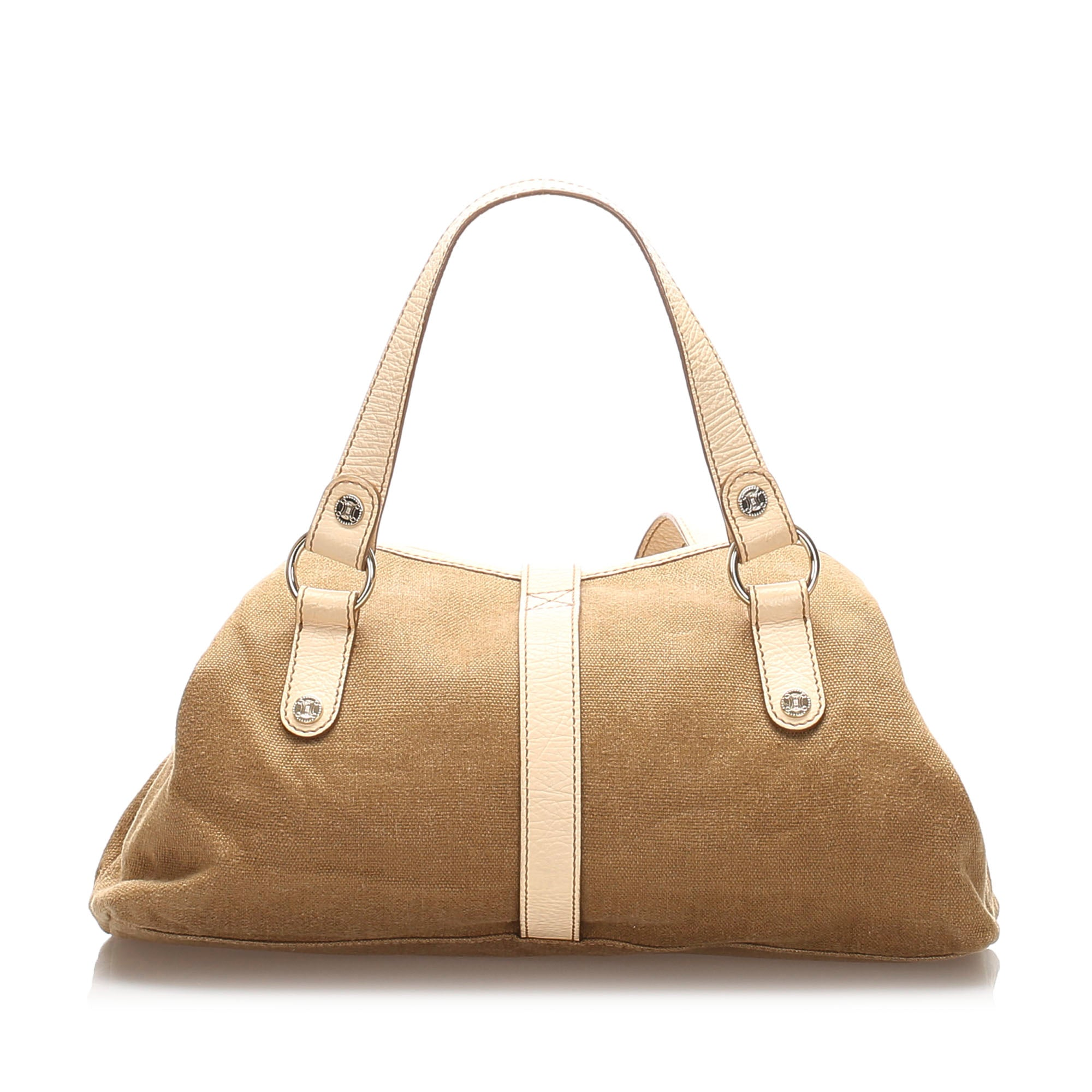 Celine Brown Canvas Tote Bag