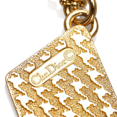 Dior Gold Dior Logo Pendant Necklace