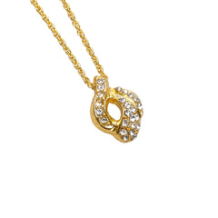 Dior Gold Gold-Tone Pendant Necklace