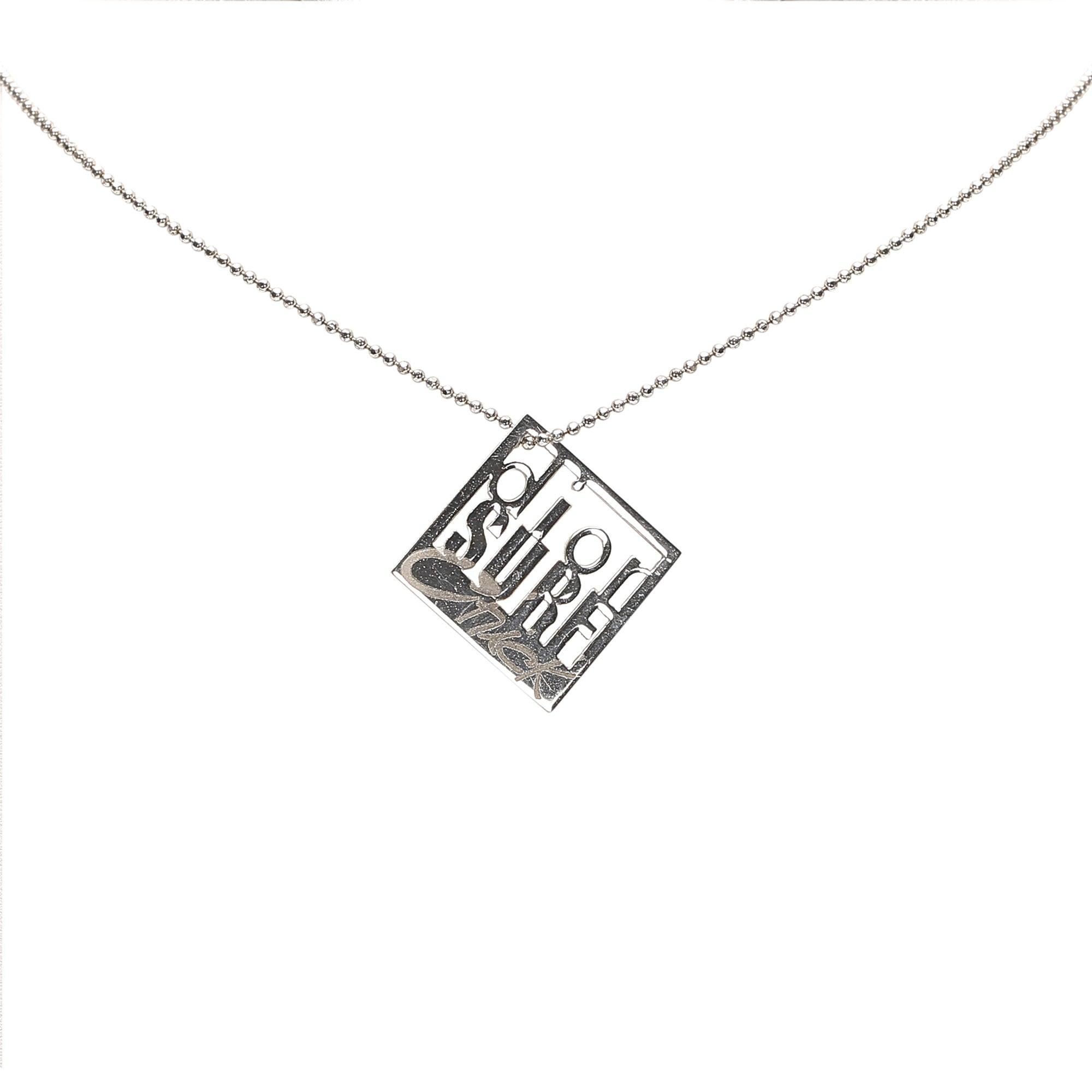 Dior Silver Dior Surf Pendant Necklace