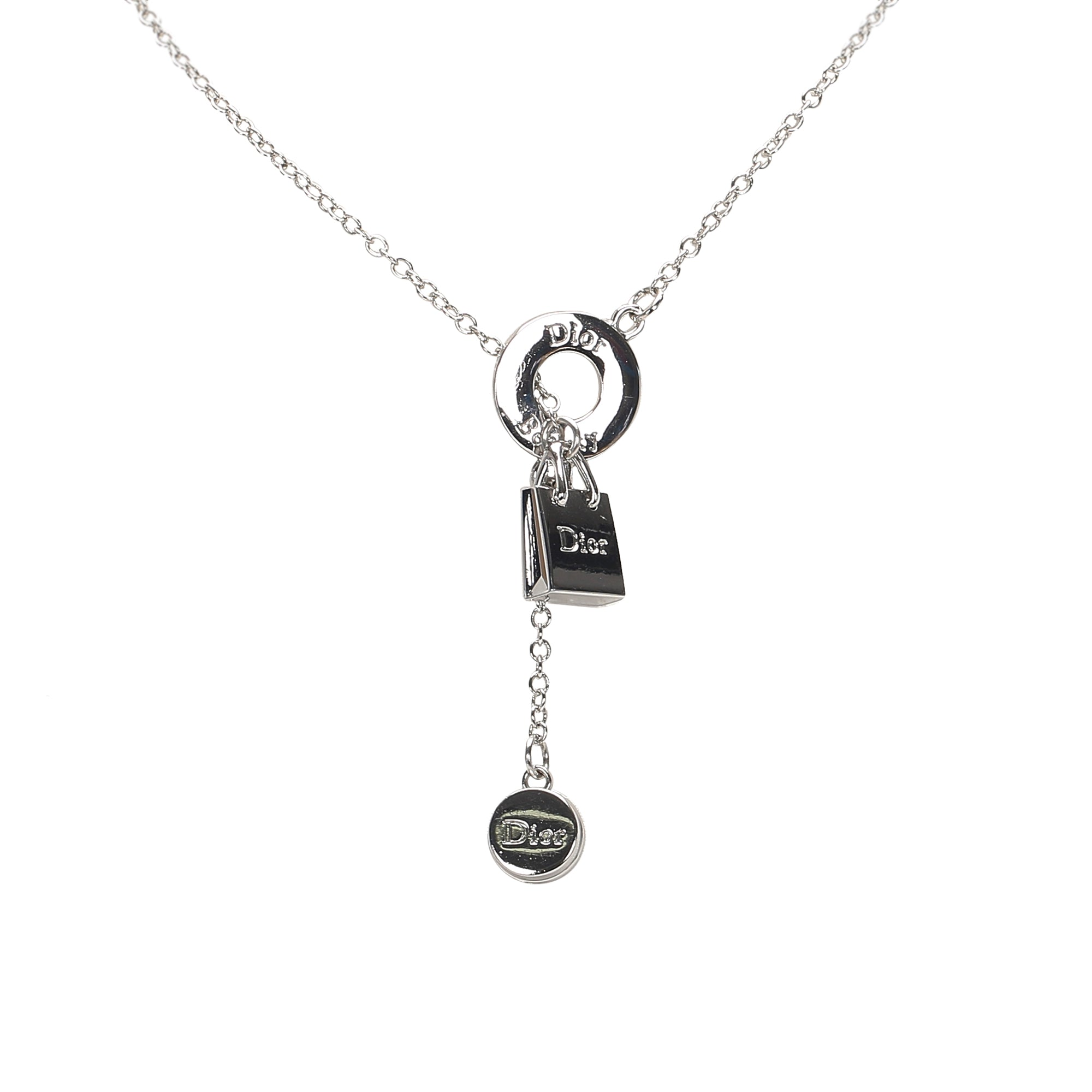 Dior Silver Beauty Charm Necklace