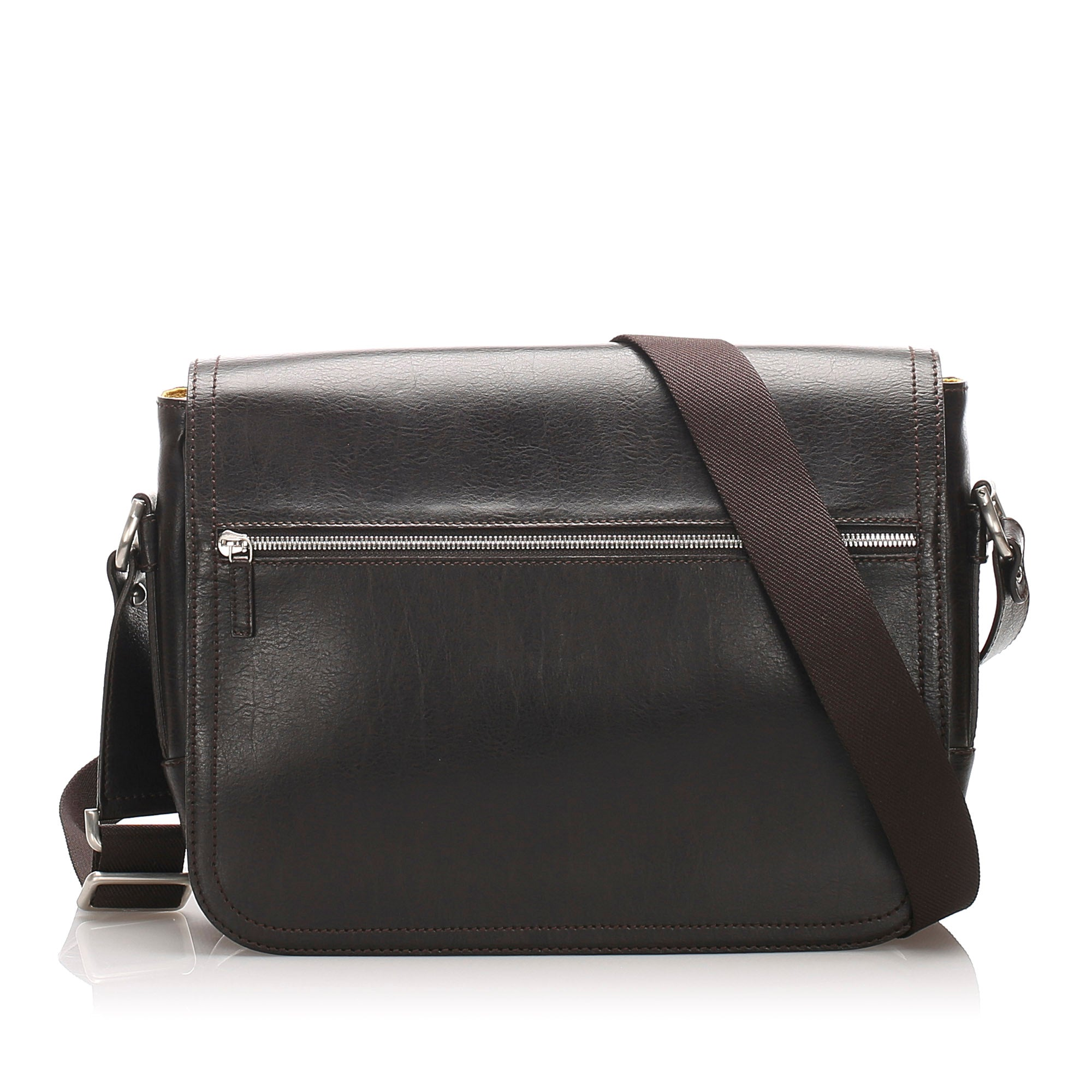 Ferragamo Black Leather Shoulder Bag