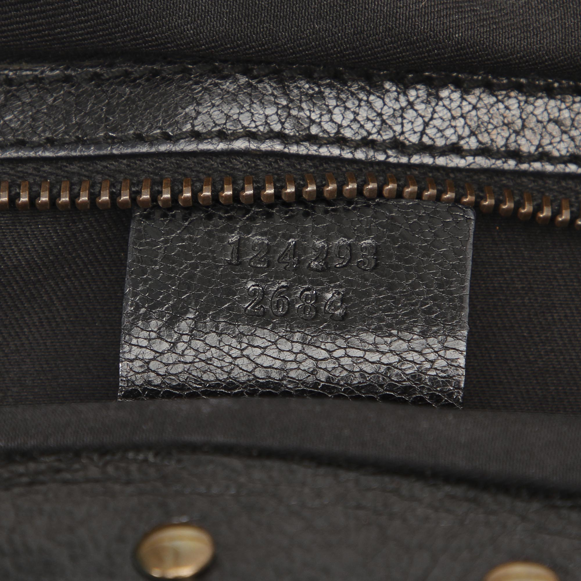 Gucci Black Bamboo Leather Tote Bag