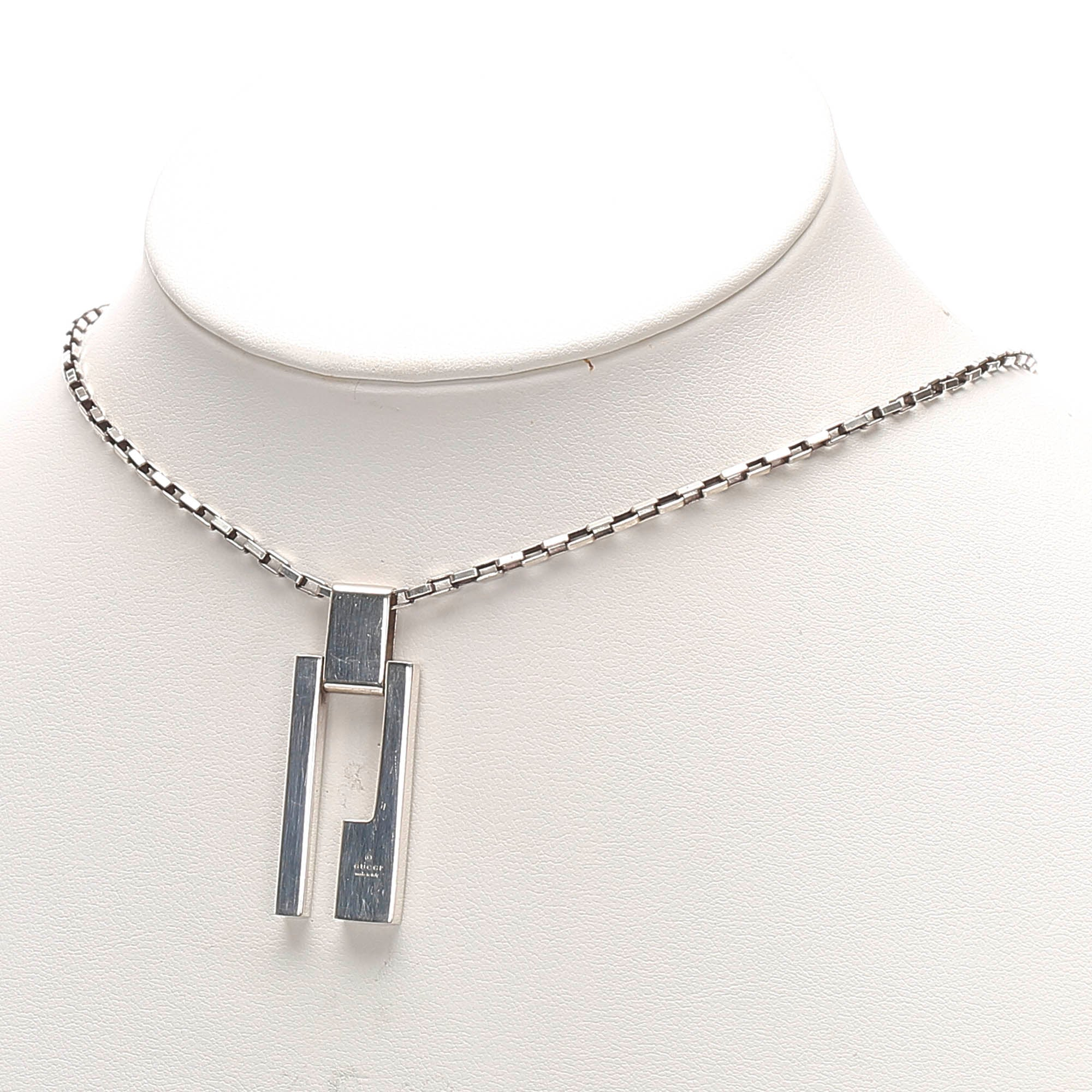 Gucci Silver Silver-Tone Necklace