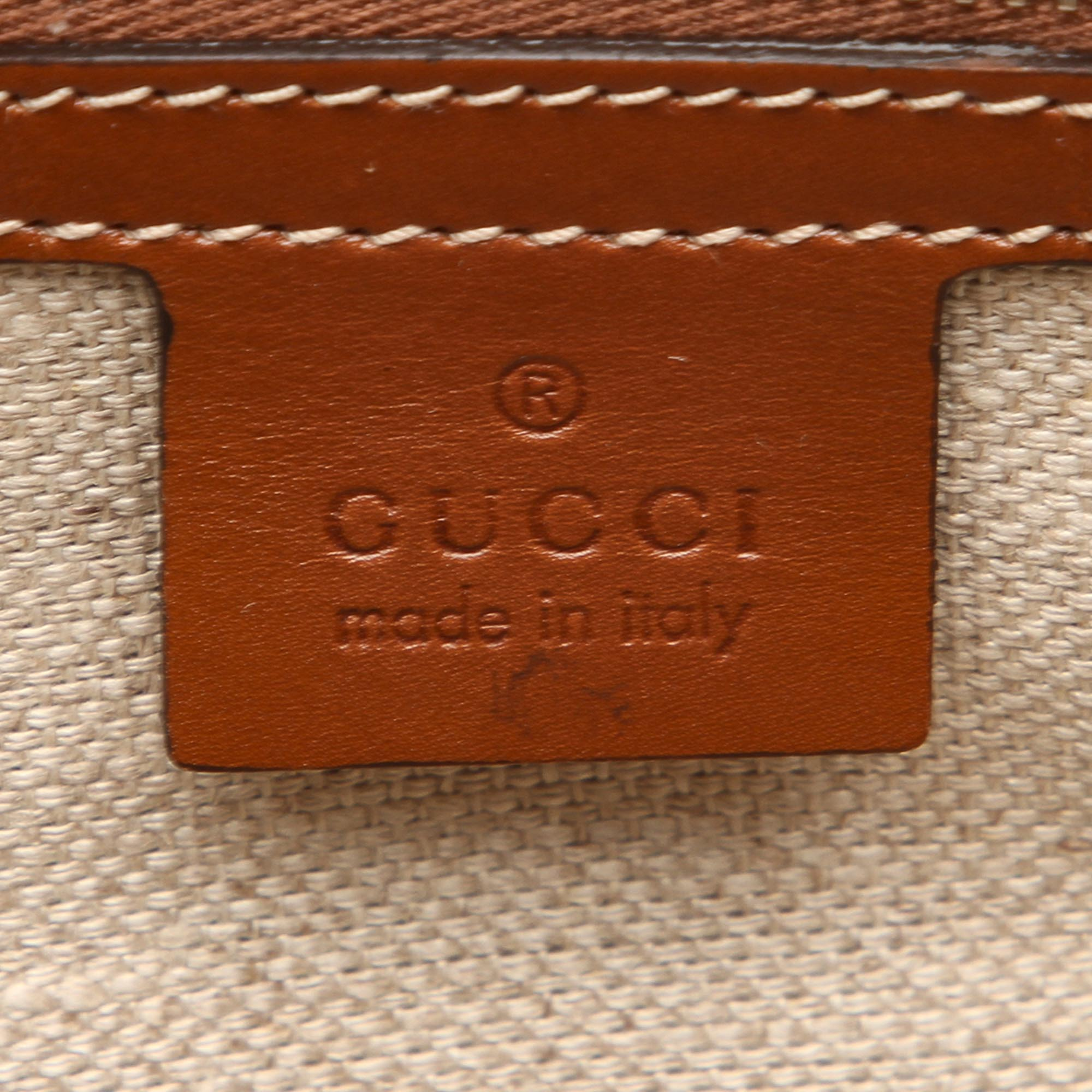 Gucci Gray Diamante Canvas Travel Bag