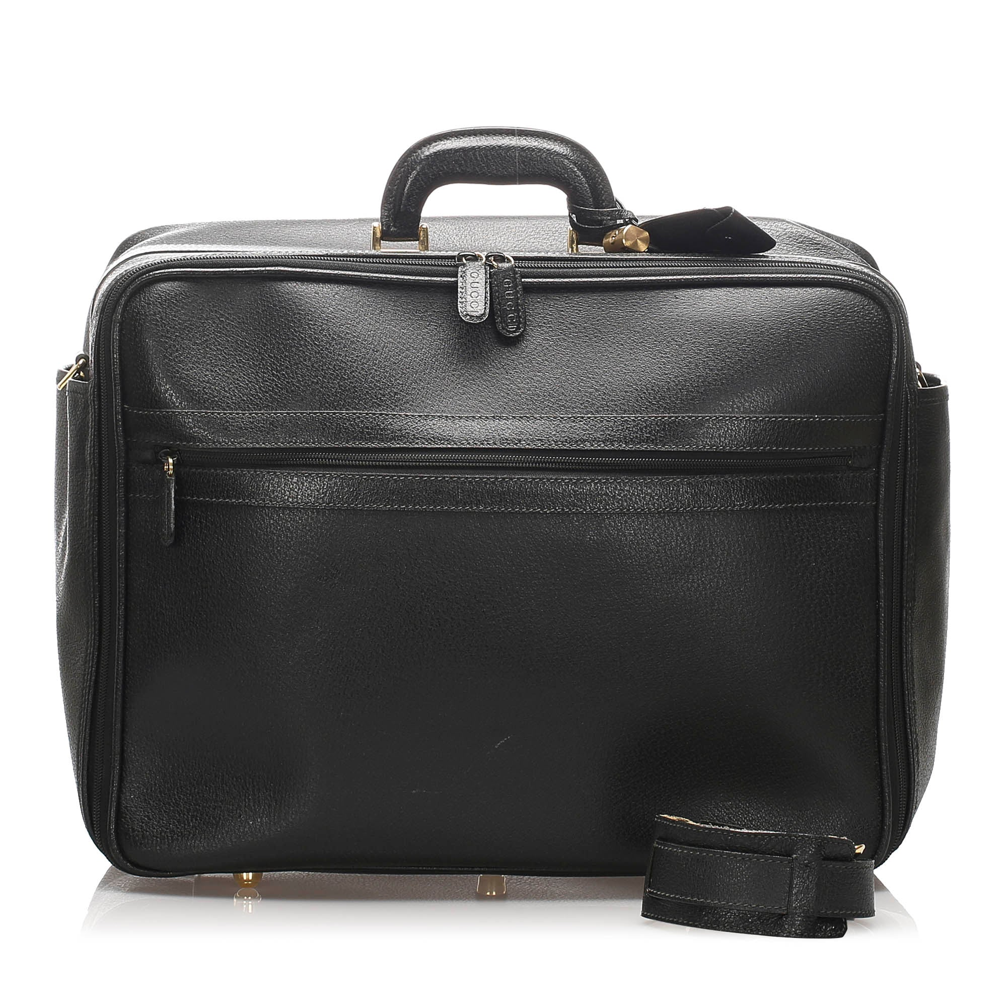 Gucci Black Leather Travel Bag