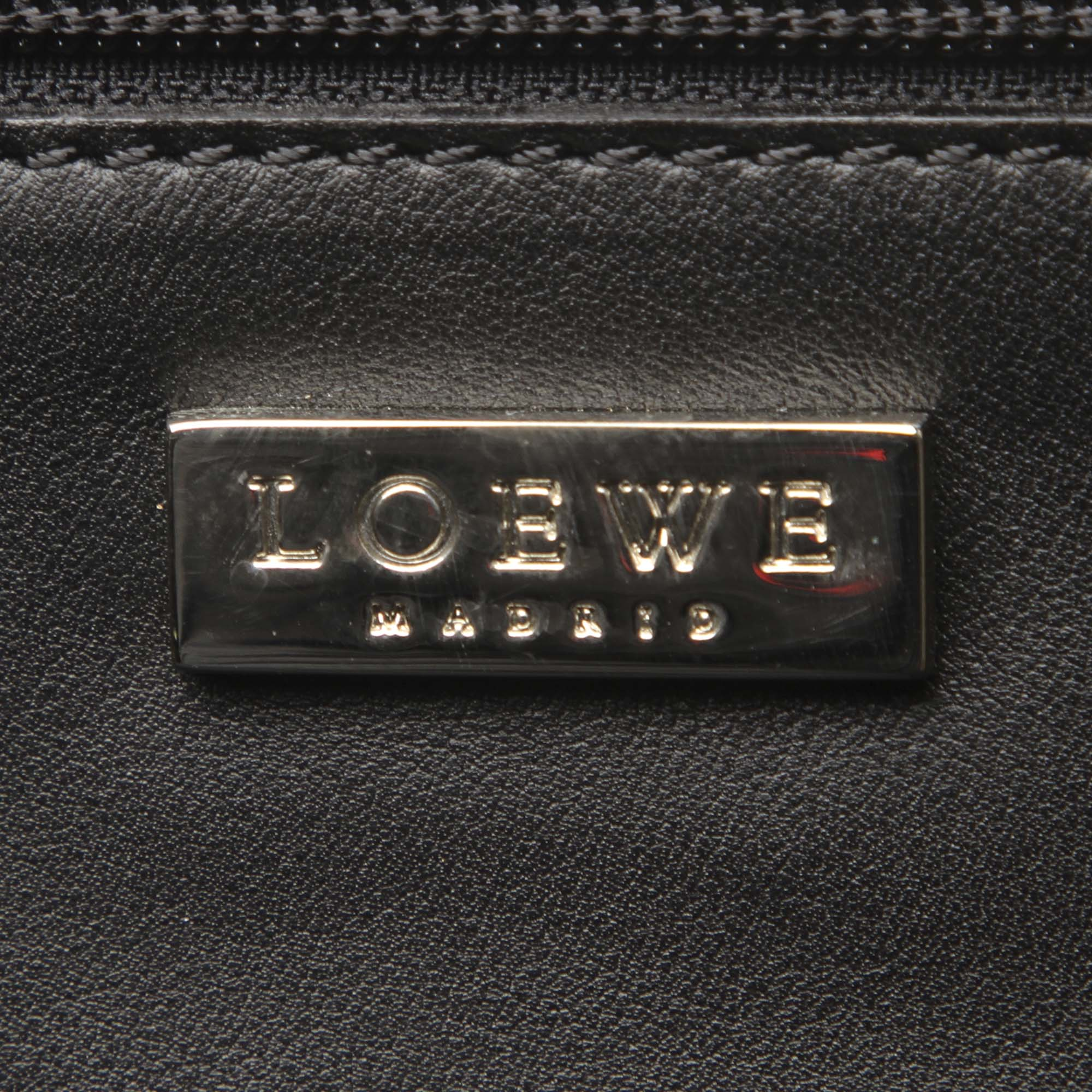 Loewe Black Leather Travel Bag