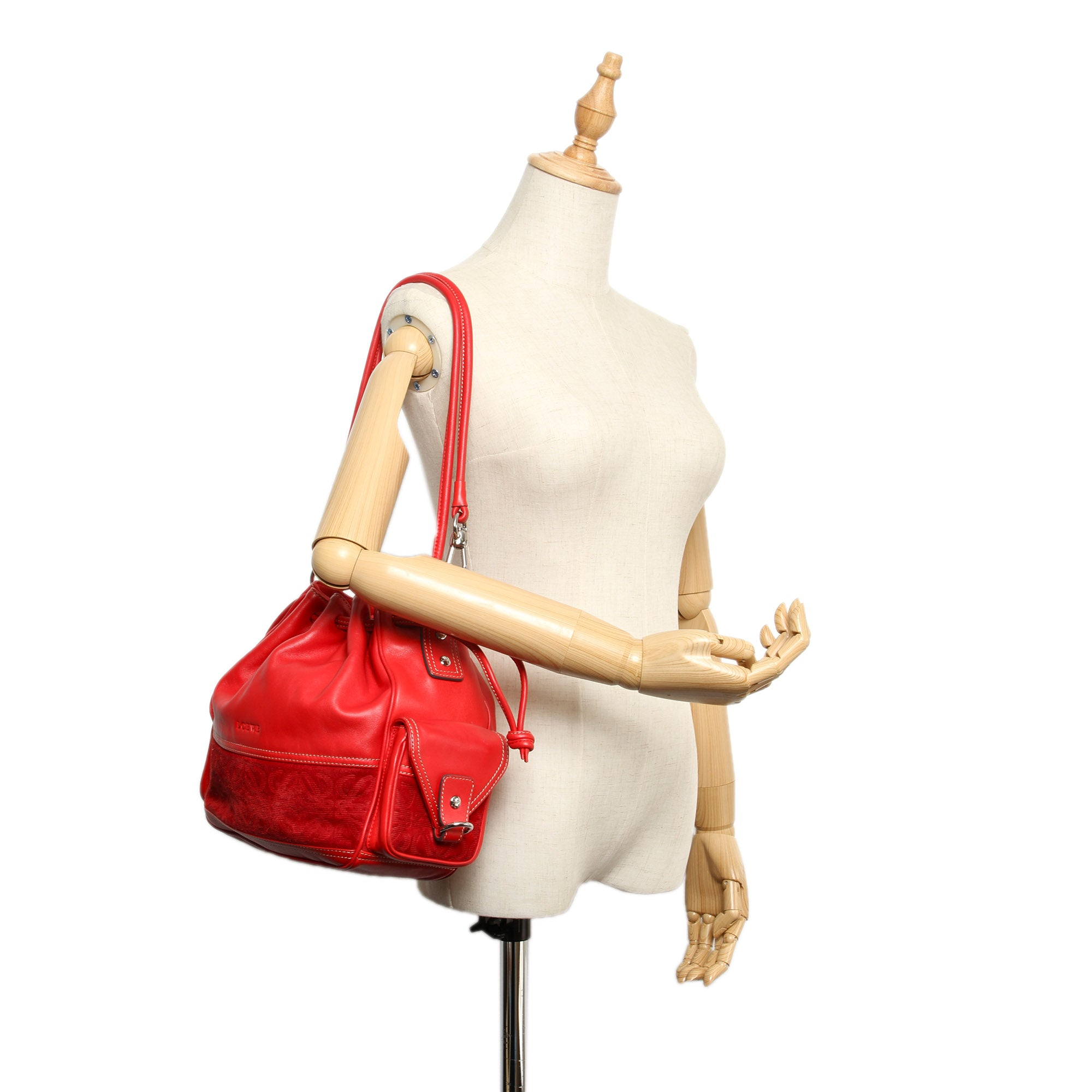 Loewe Red Flamenco Leather Shoulder Bag