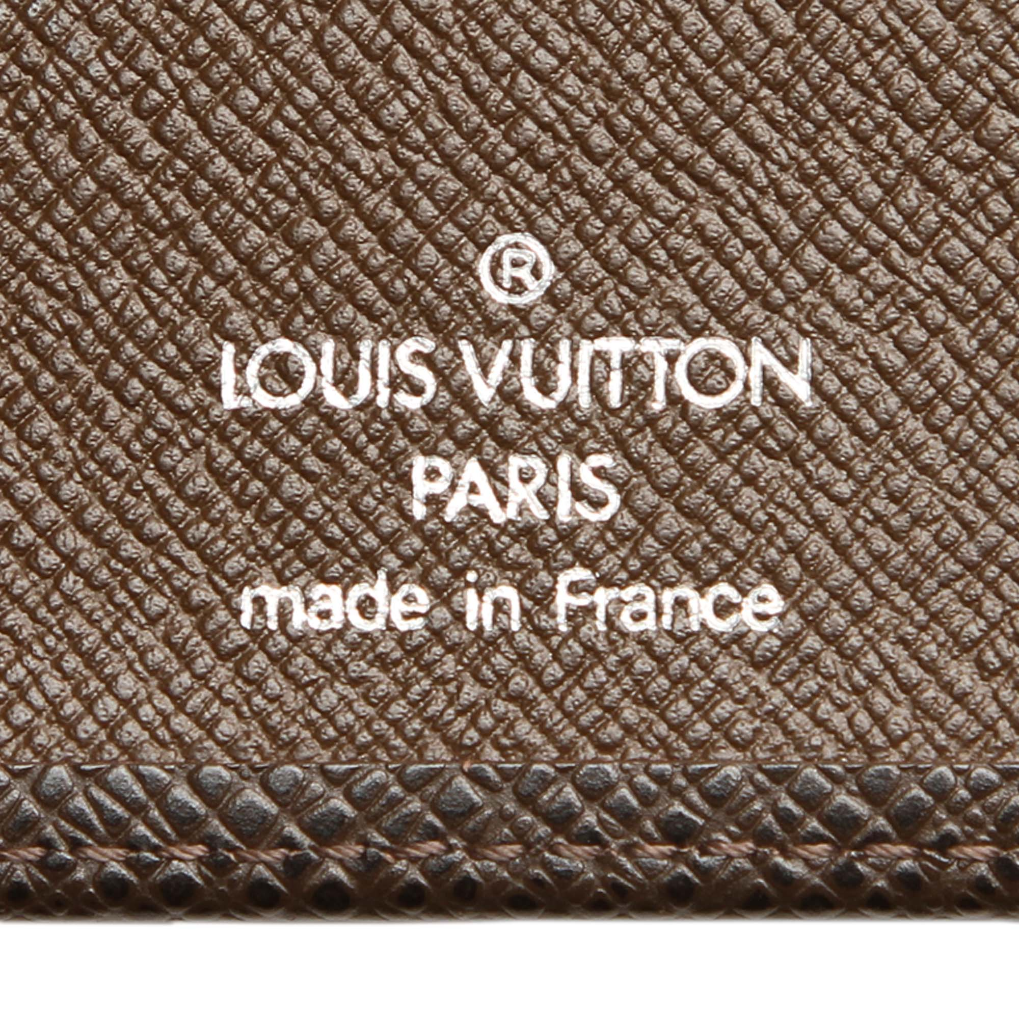 Louis Vuitton Brown Taiga Agenda MM
