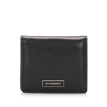 Burberry Black Leather Coin Pouch