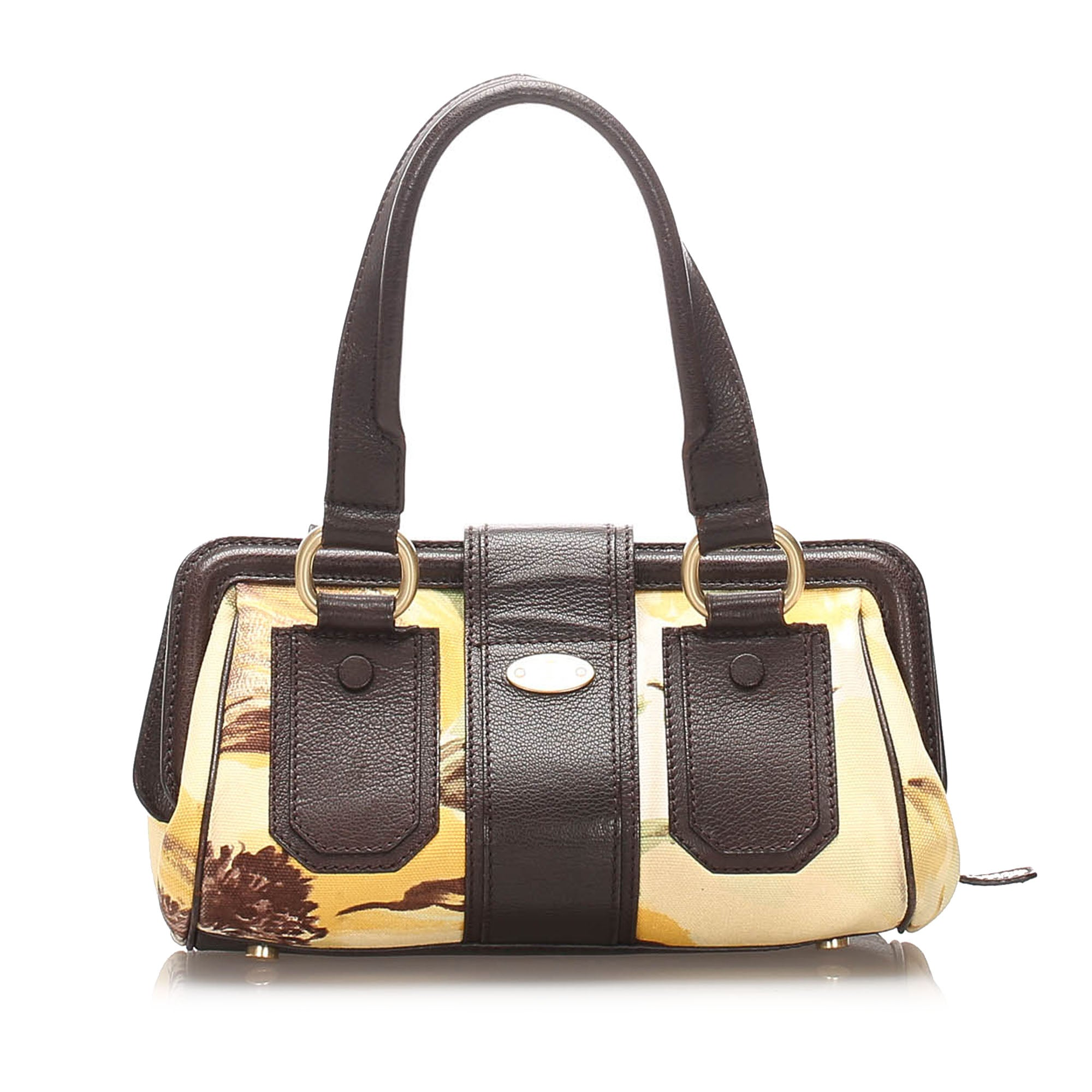 Celine Brown Canvas Handbag
