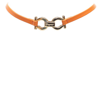 Ferragamo Yellow Gancini Leather Bracelet
