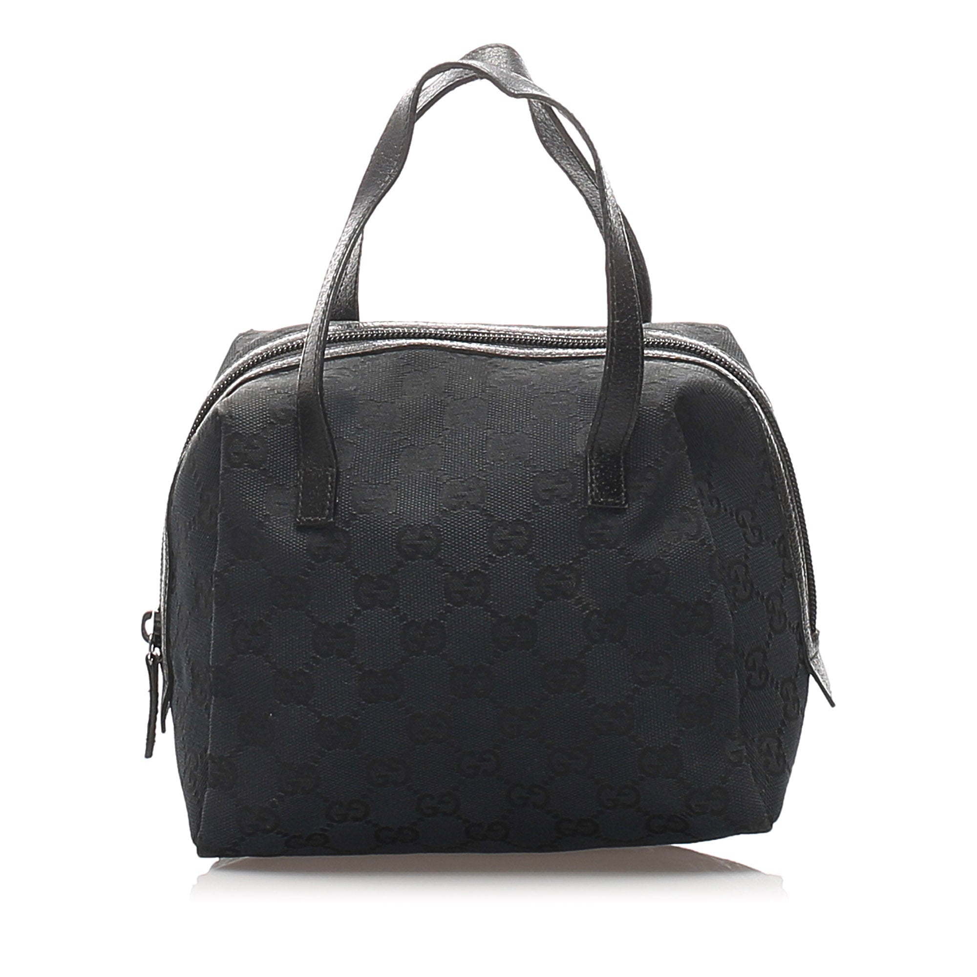 Gucci Black GG Canvas Handbag