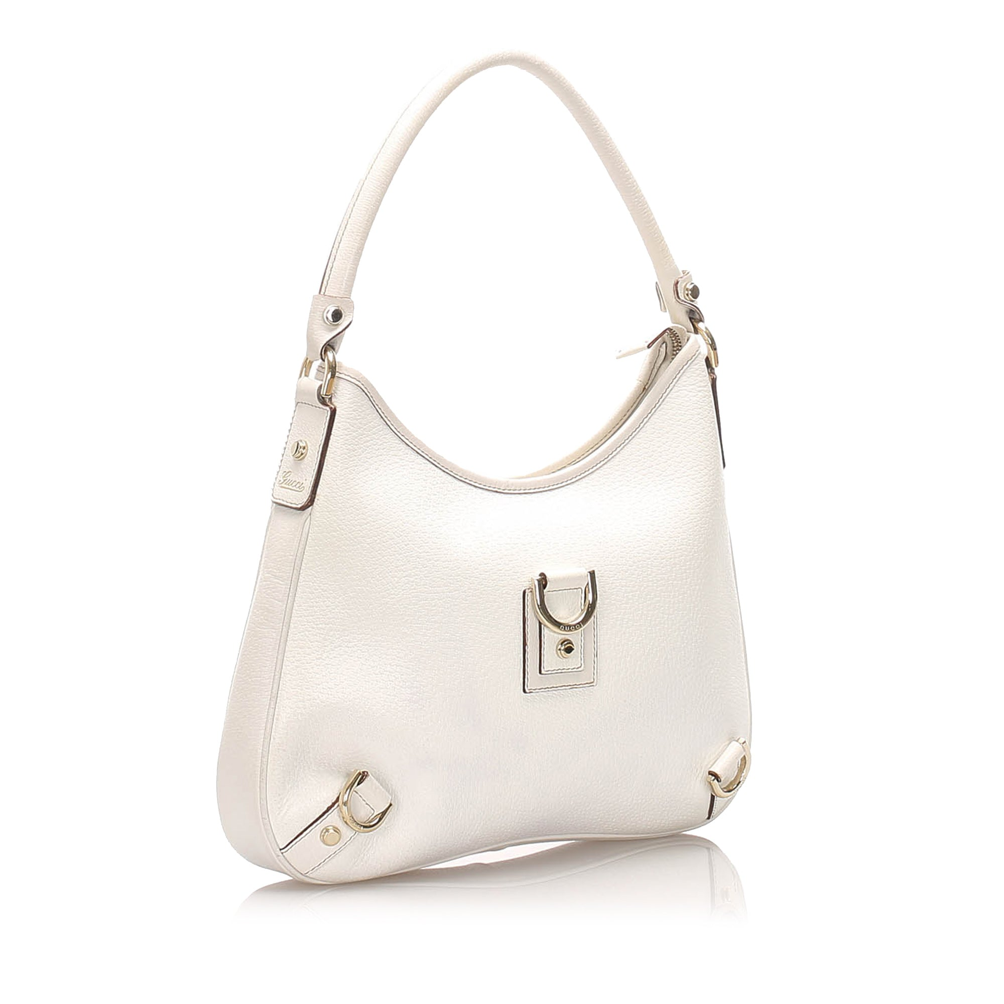 Gucci White Abbey Leather Shoulder Bag