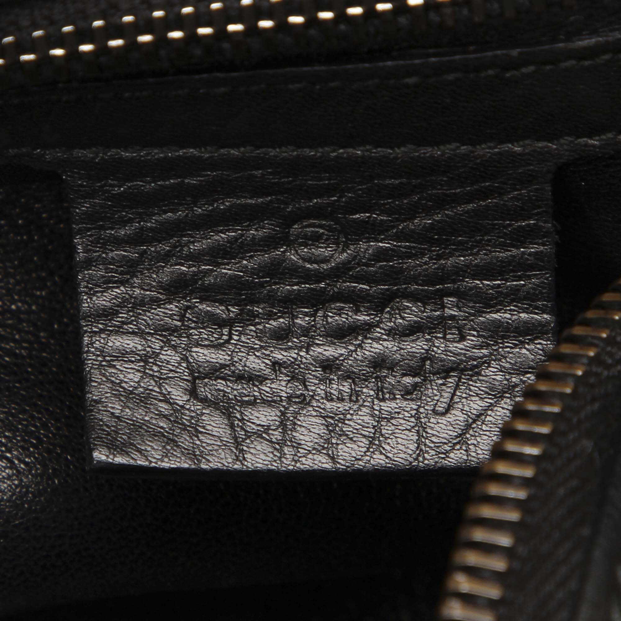 Gucci Black Icon Bit Leather Satchel