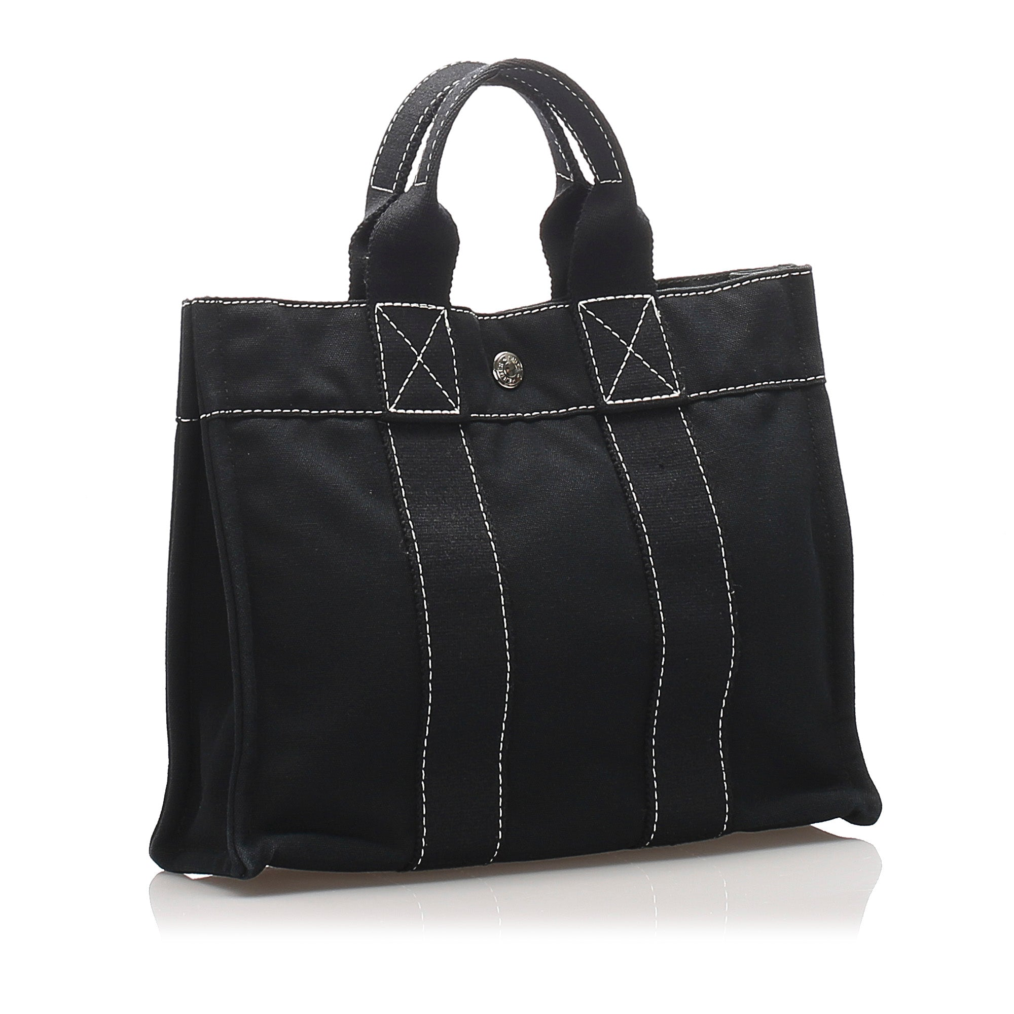 Hermes Black Sac Deauville PM