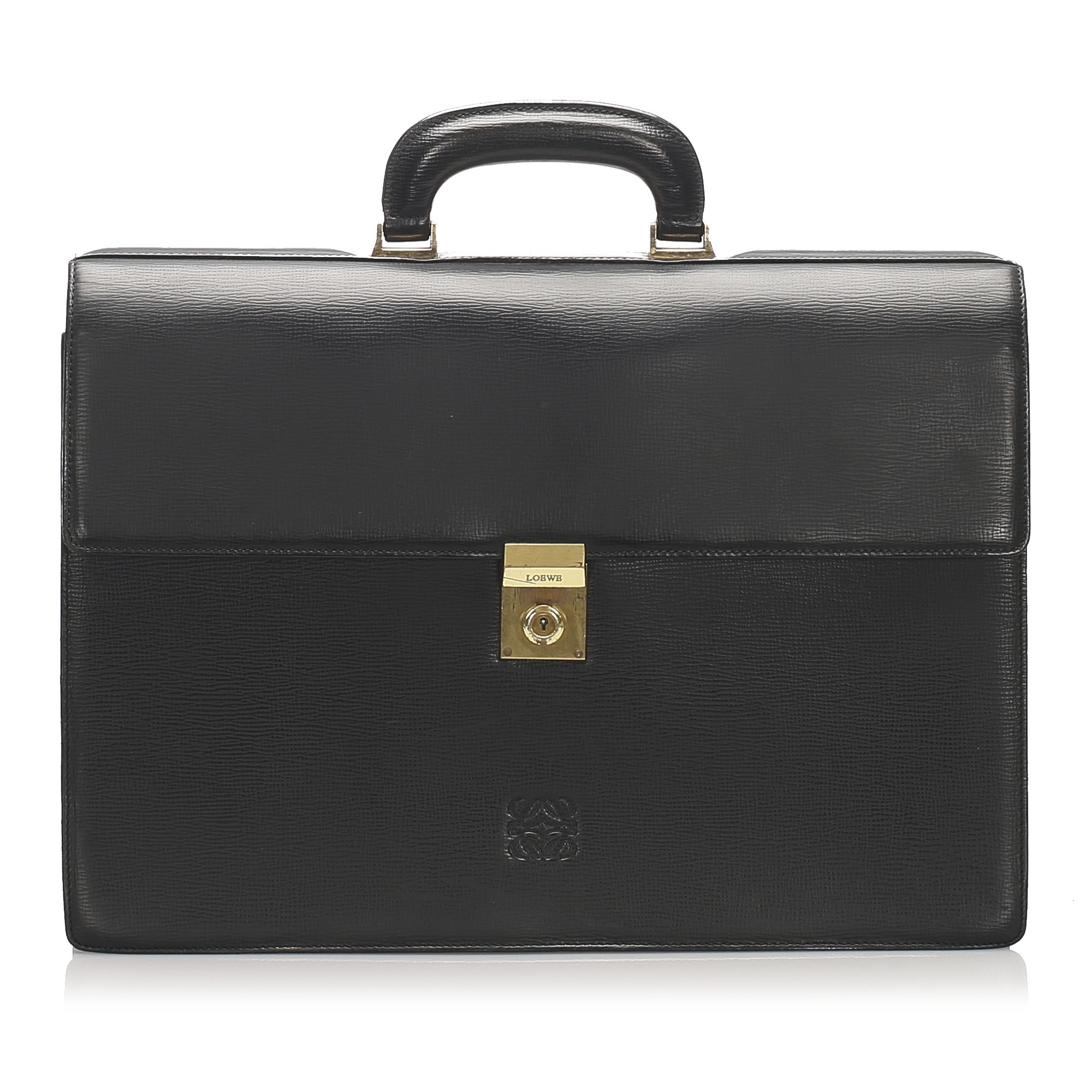 Loewe Black Leather Briefcase
