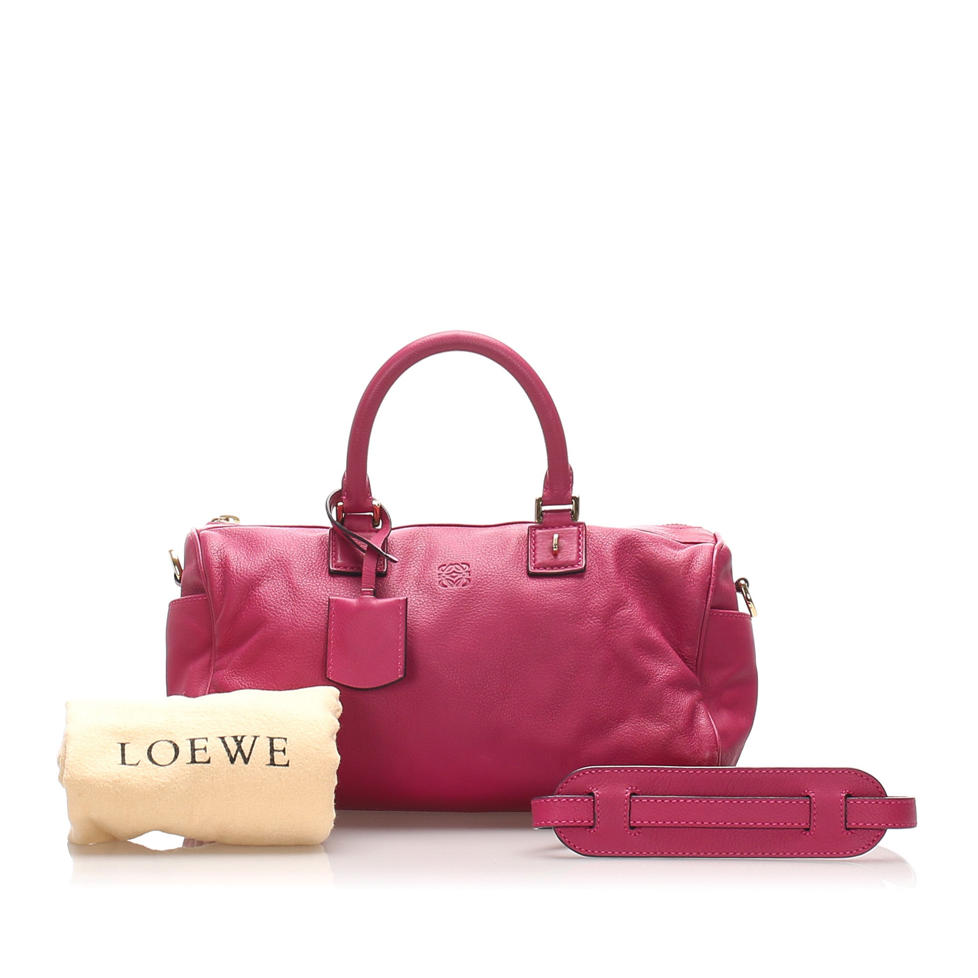 Loewe Pink Amazona Leather Satchel
