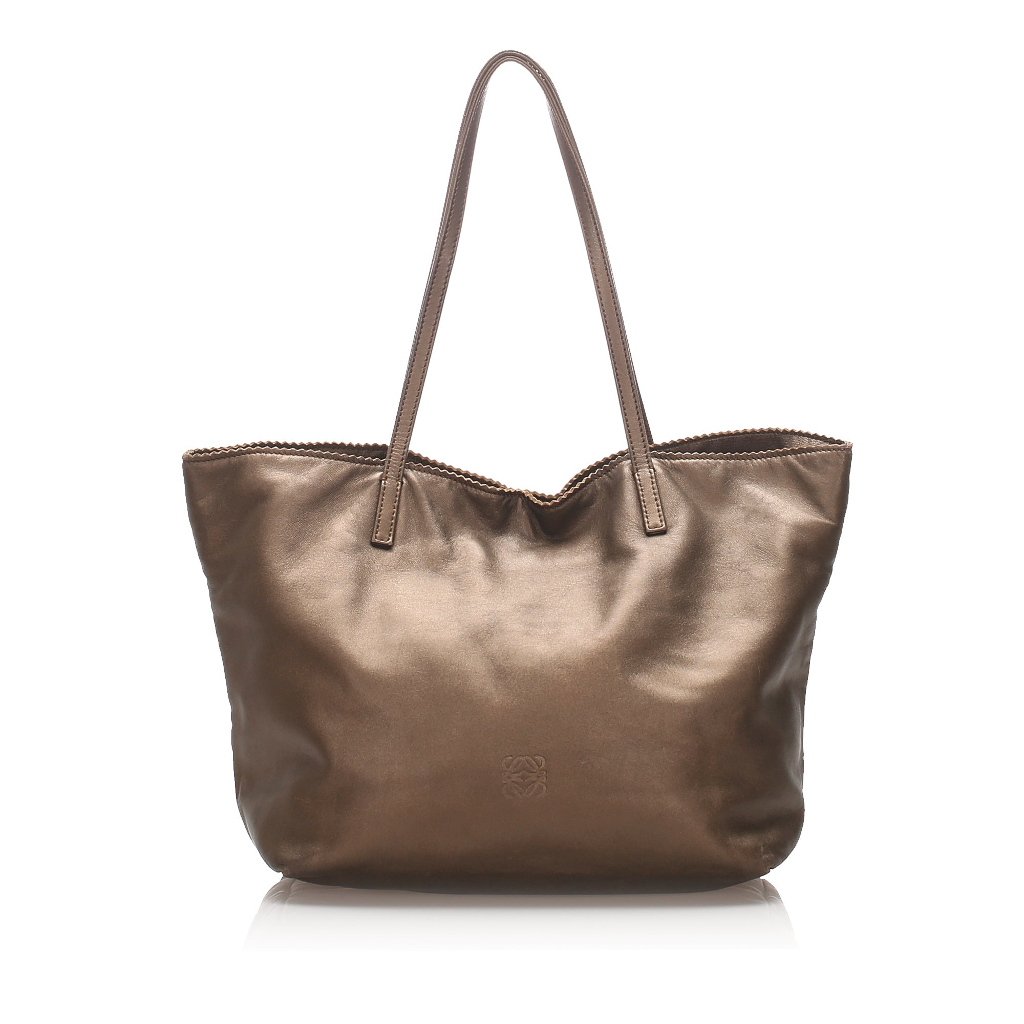 Loewe Brown Leather Tote Bag