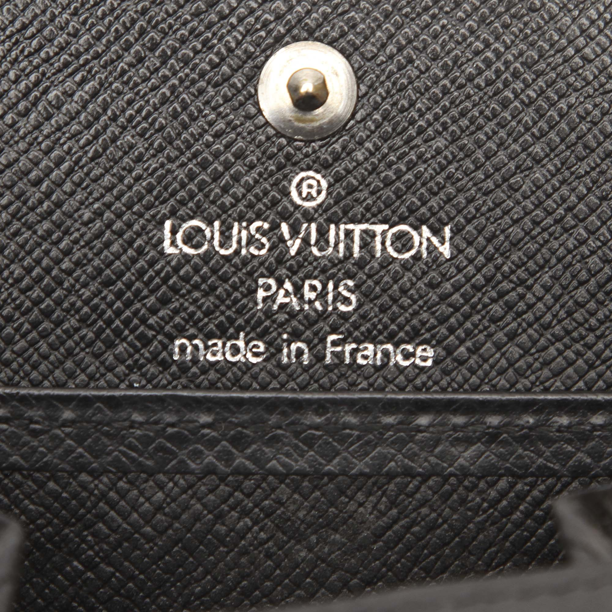 Louis Vuitton Black Taiga Box Coin Purse
