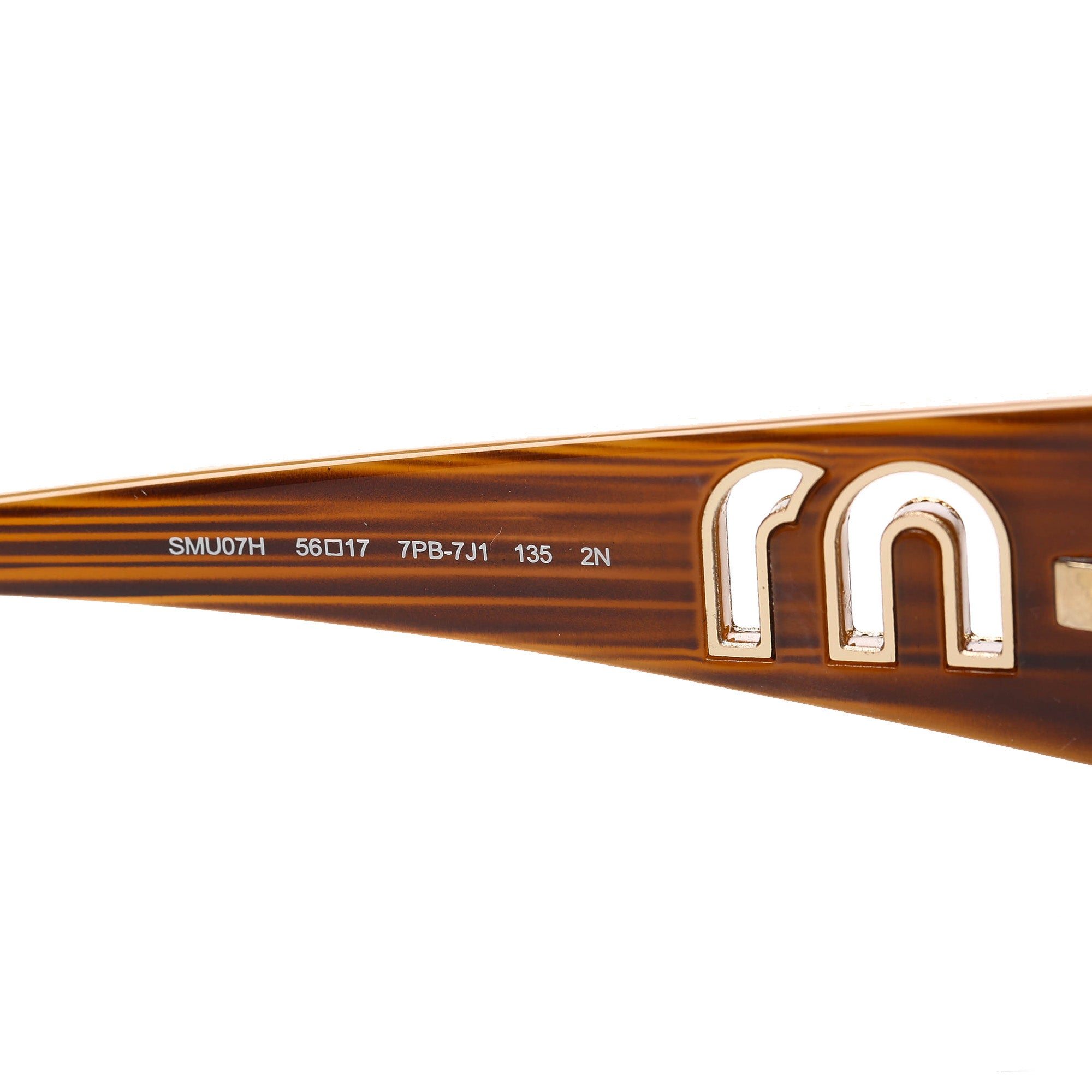 Miu Miu Brown Square Tinted Sunglasses