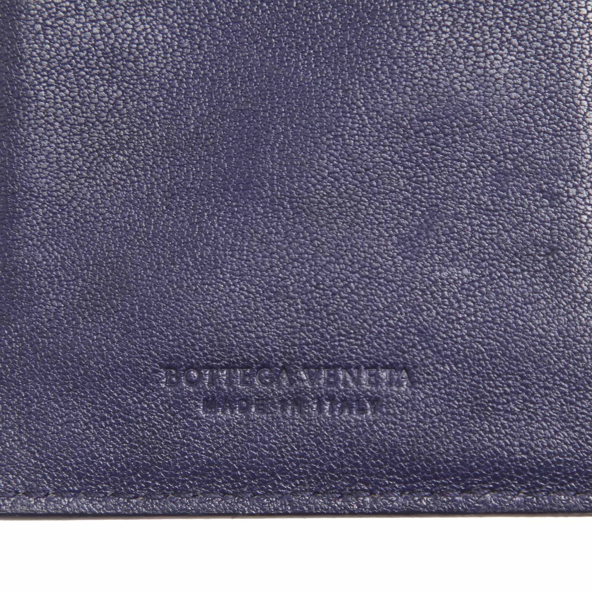 Bottega Veneta Black Intrecciato Leather Bifold Wallet