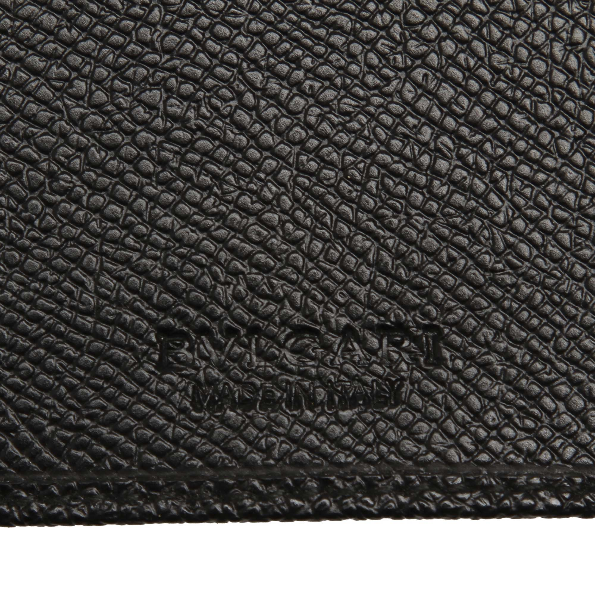 Bvlgari Black Leather Long Wallet