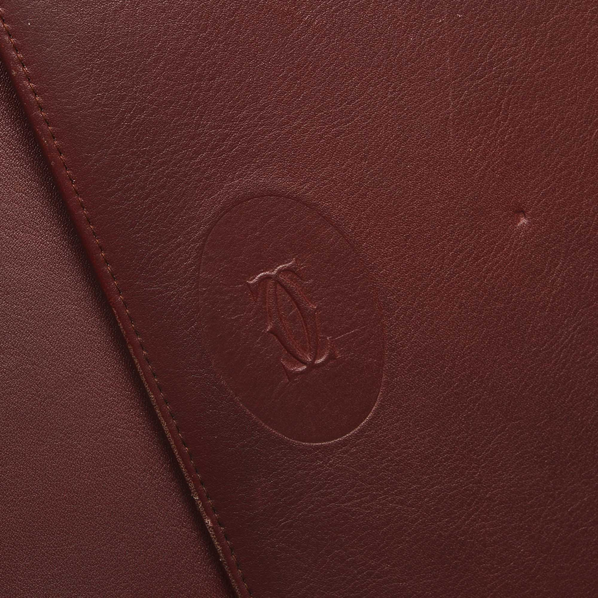Cartier Red Must De Cartier Leather Clutch Bag