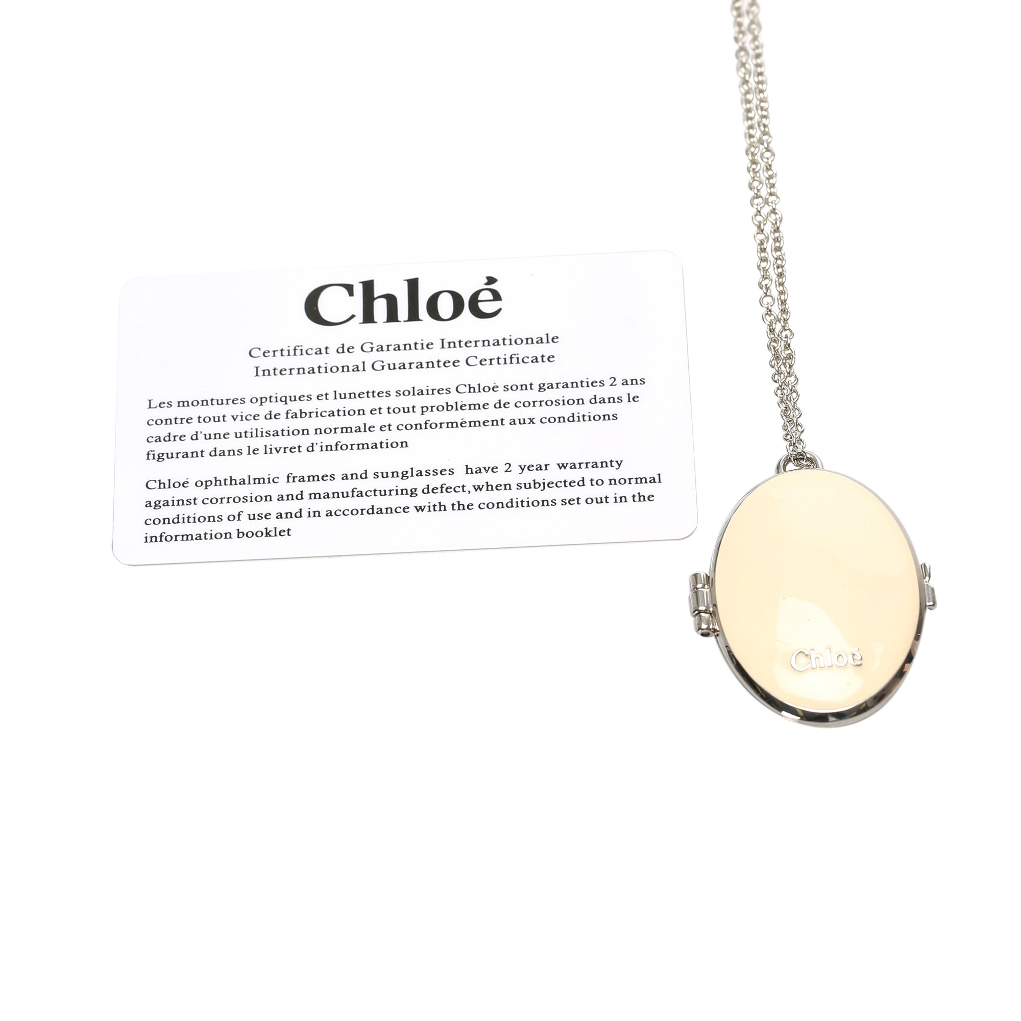 Chloe Brown Perfume Pendant Necklace