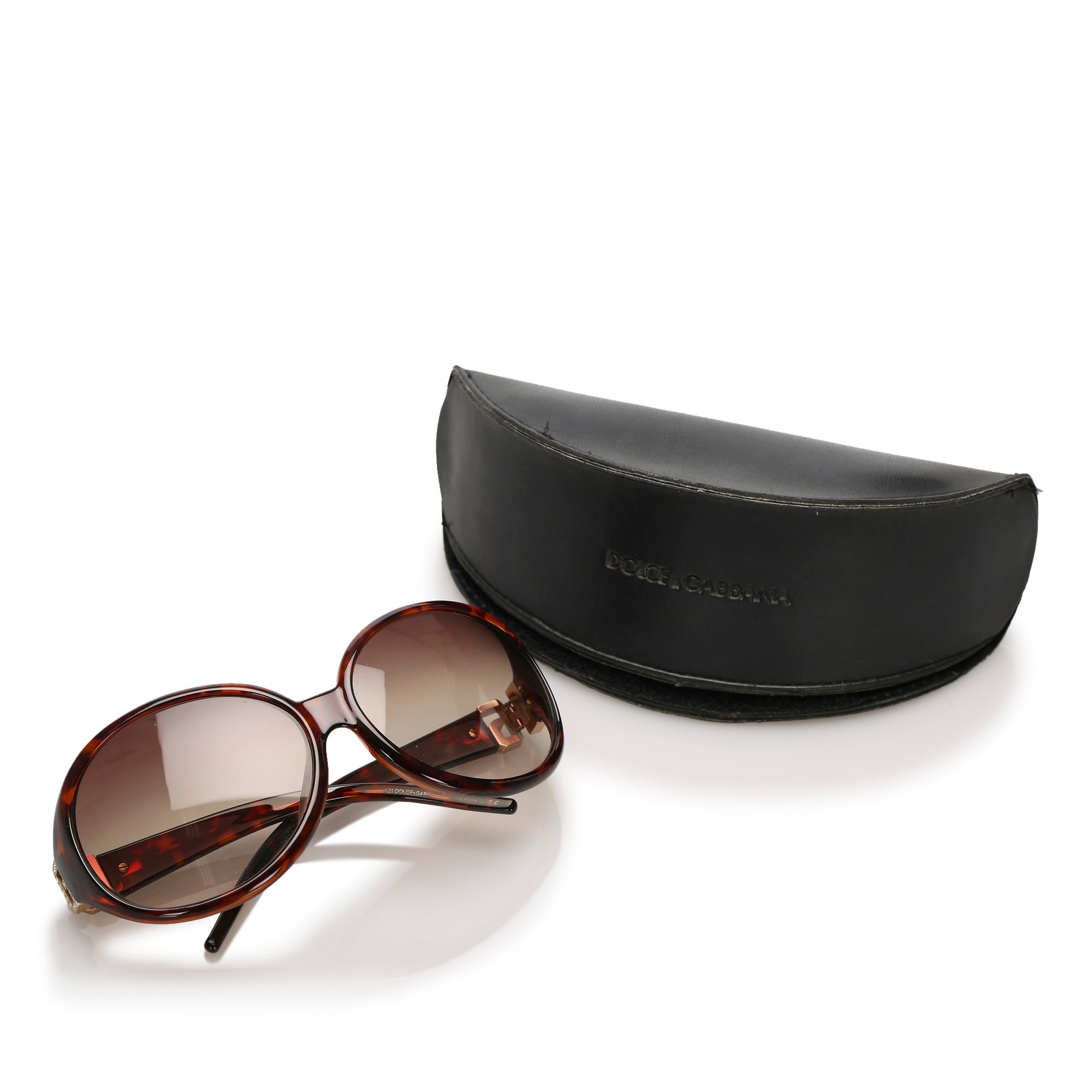 Dolce&Gabbana Brown Round Tinted Sunglasses
