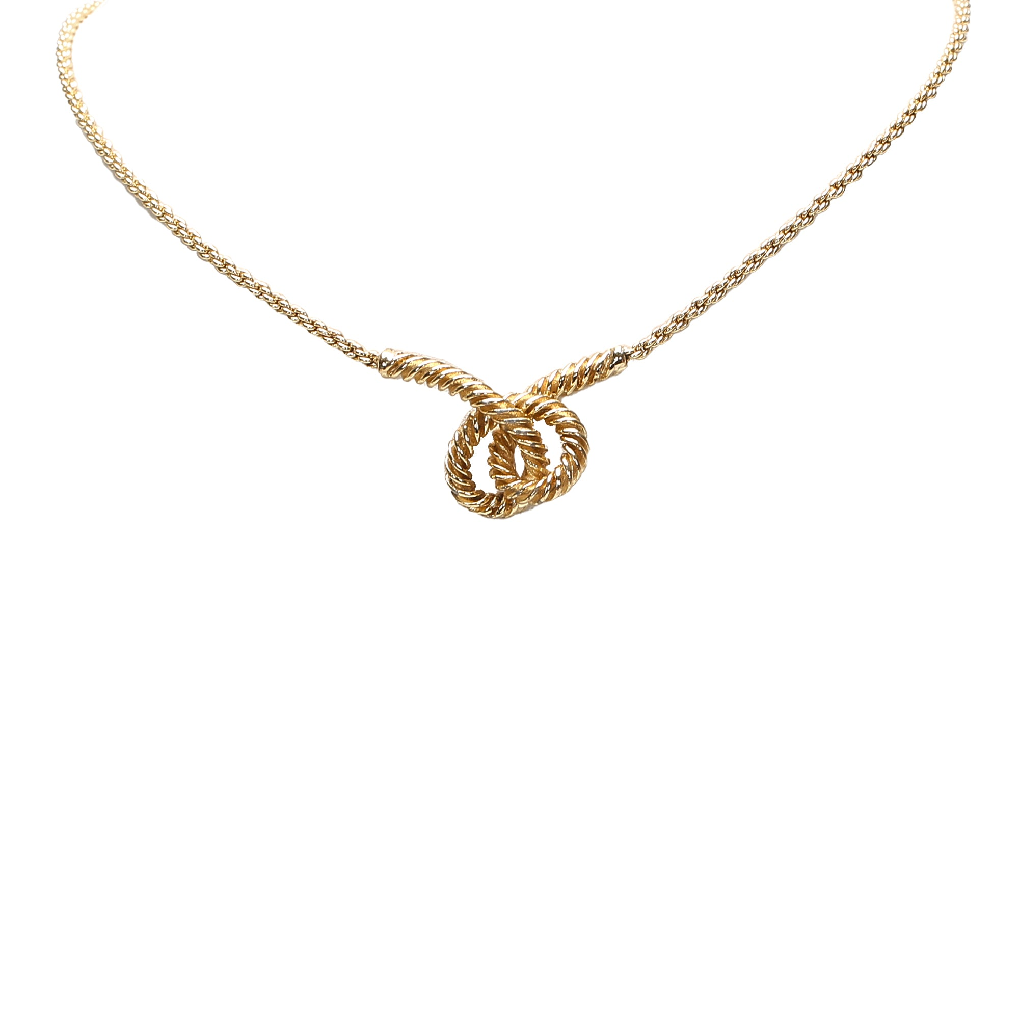 Dior Gold Silver-Tone Charms Necklace