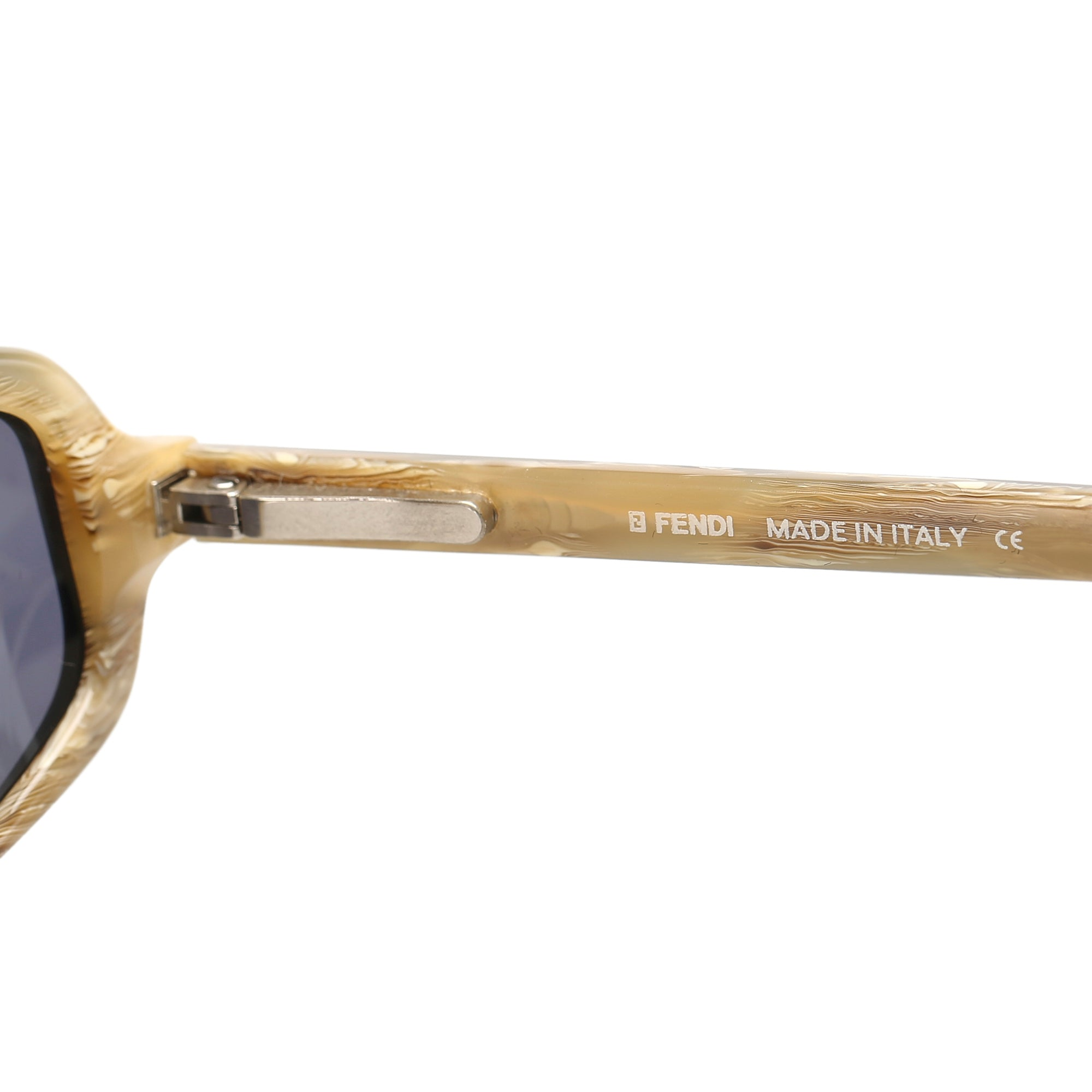 Fendi Black Round Tinted Sunglasses