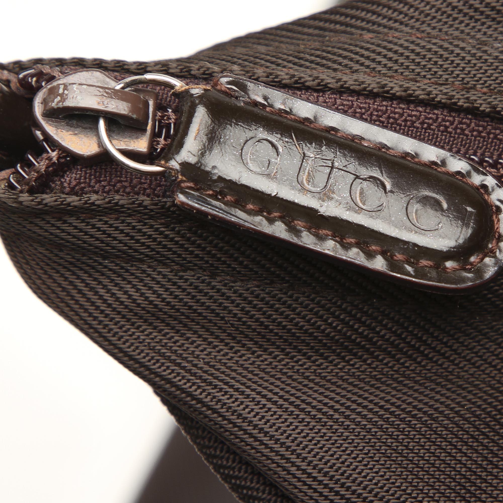 Gucci Black Bamboo Nylon Tote Bag