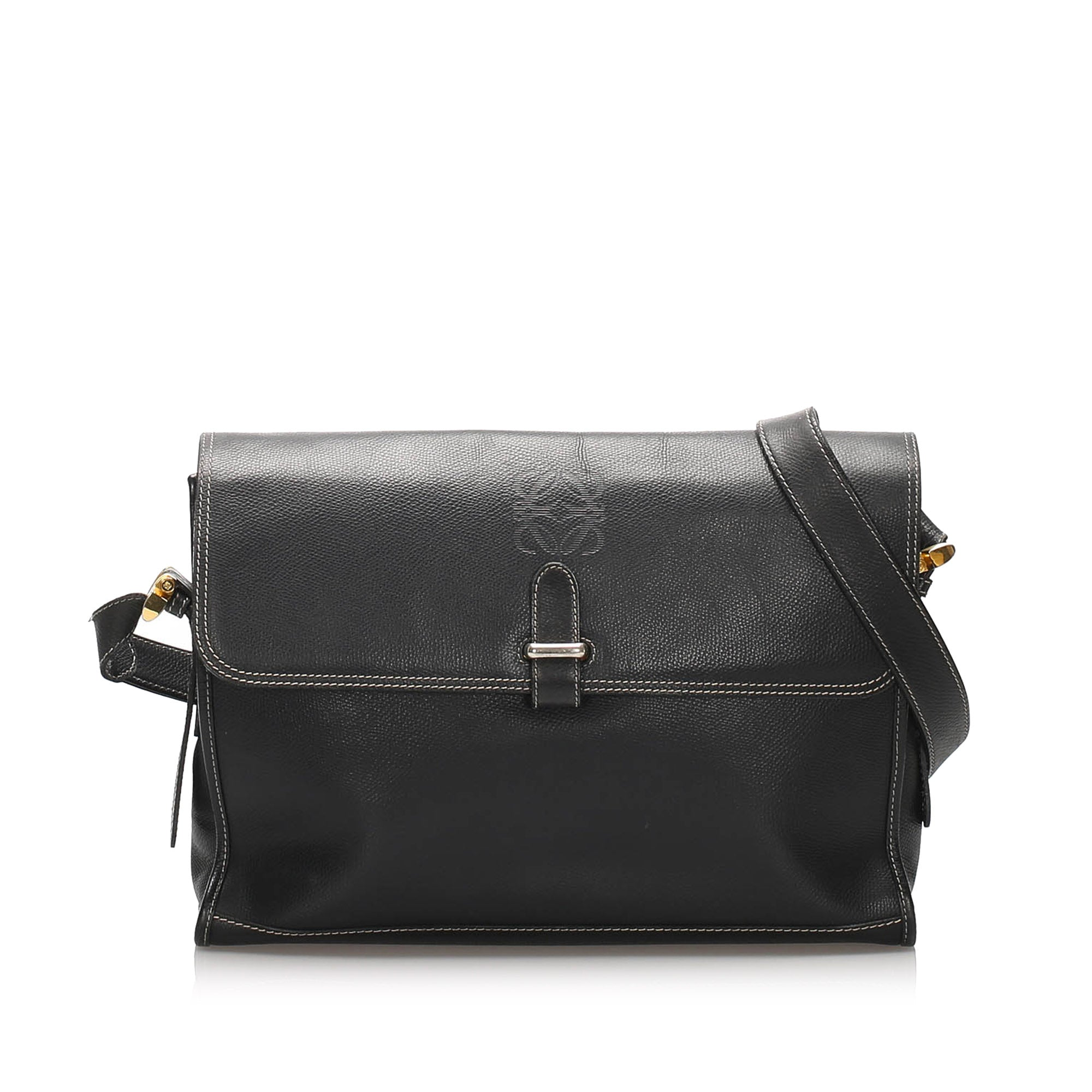 Loewe Black Leather Crossbody Bag