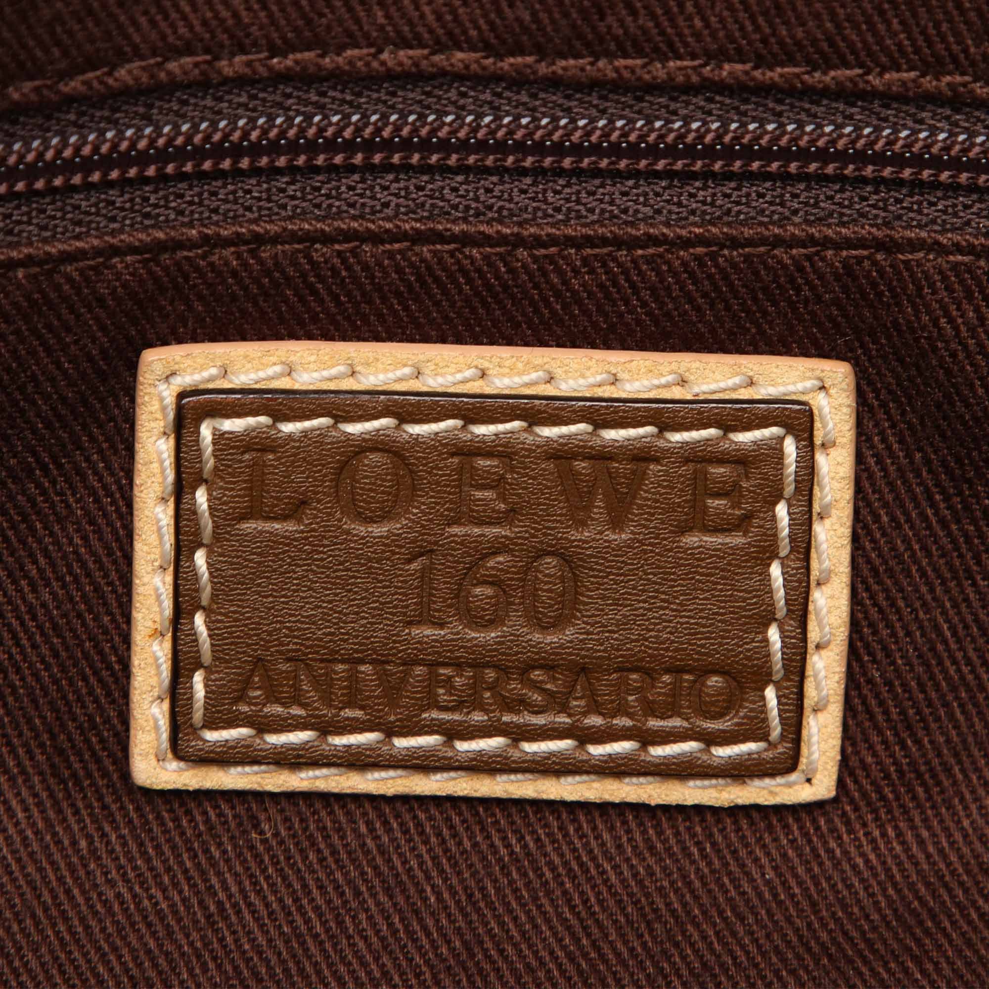 Loewe Brown 160th Anniversary Canvas Shoulder Bag