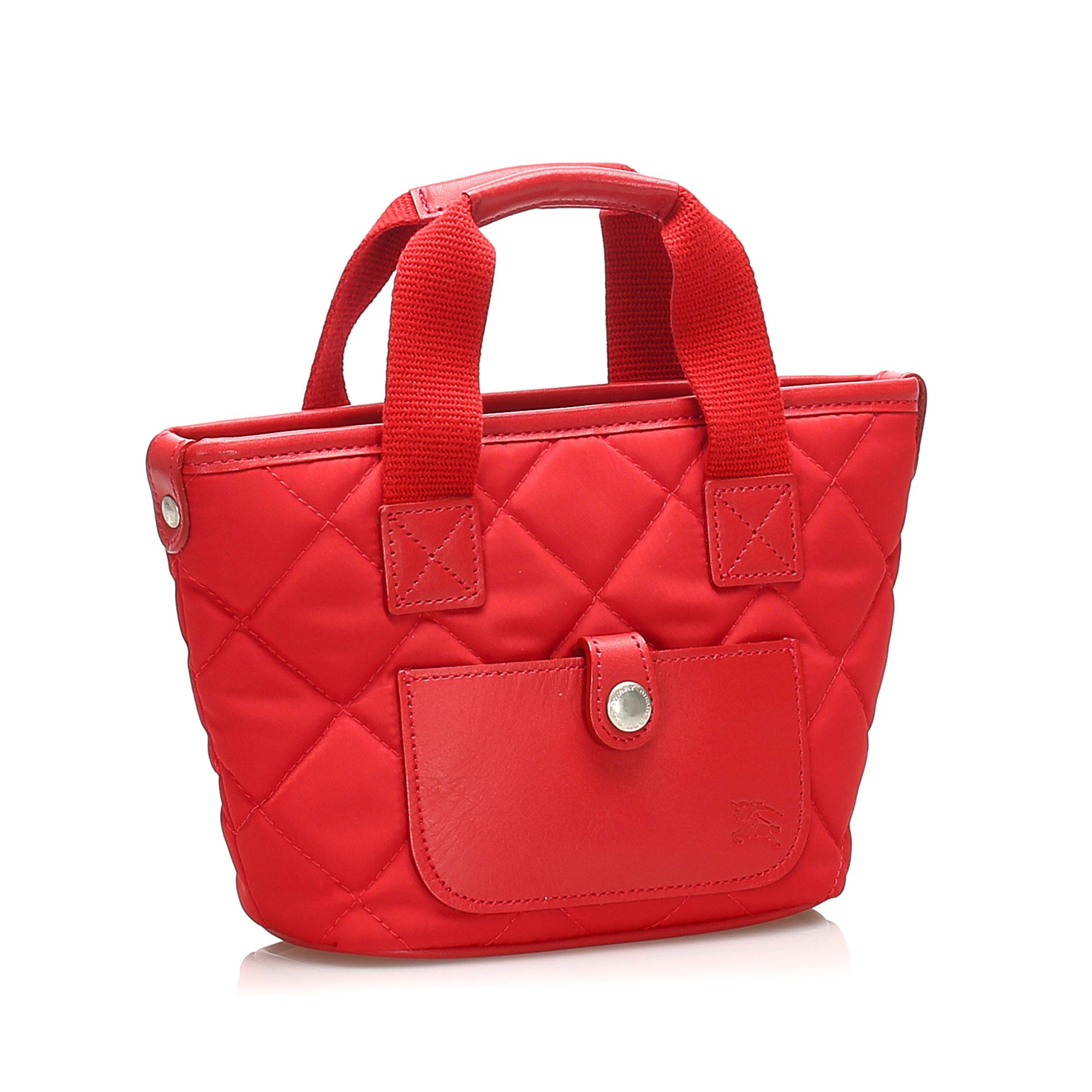 Burberry Red Quilted Nylon Handbag