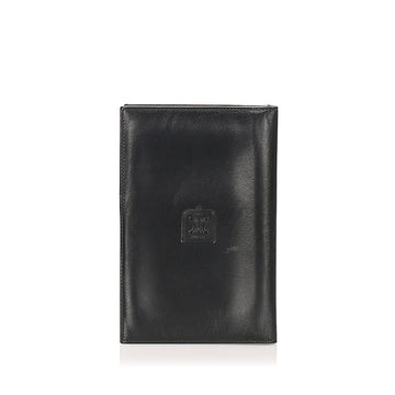 Celine Black Triomphe Leather Passport Cover